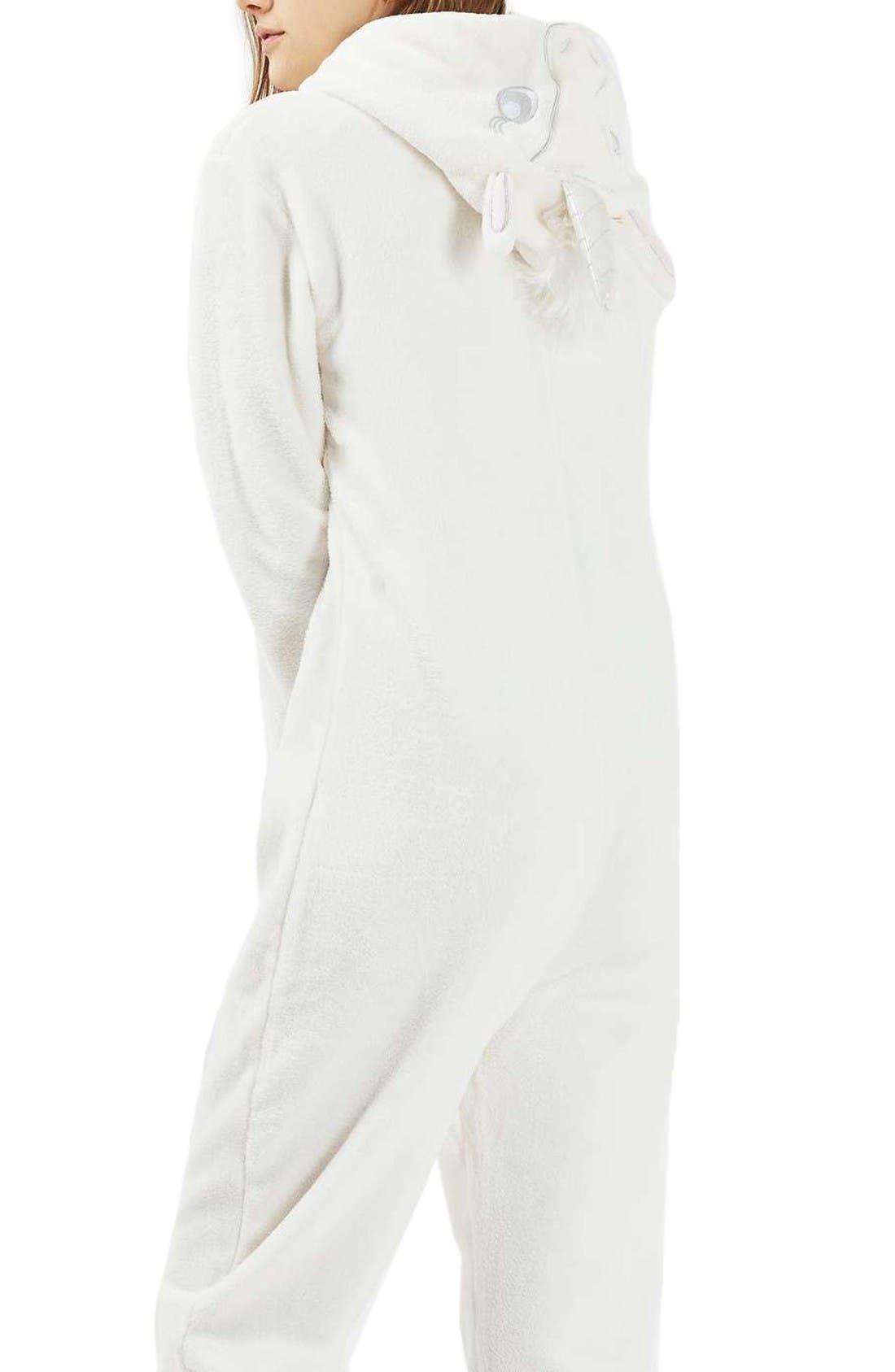Alternate Image 1 Selected - Topshop Unicorn One-Piece Pajamas