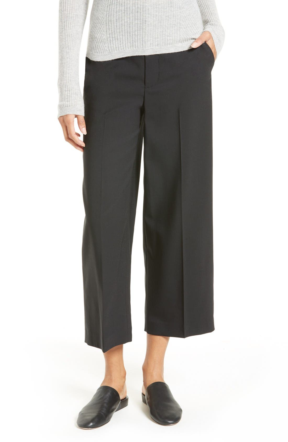 Alternate Image 1 Selected - Vince Stretch Wool Trousers