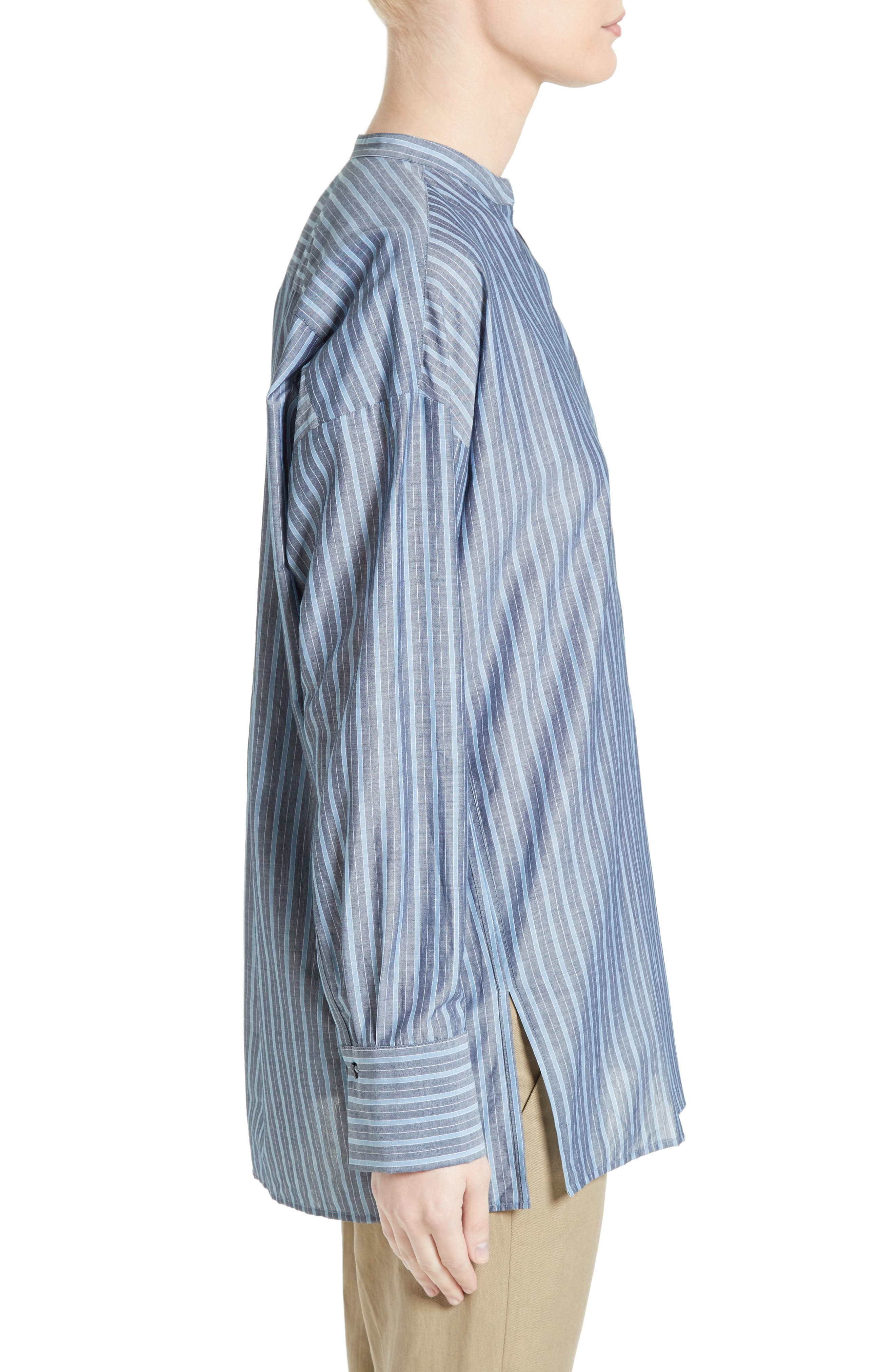 Alternate Image 3  - Vince Stripe Popover Shirt