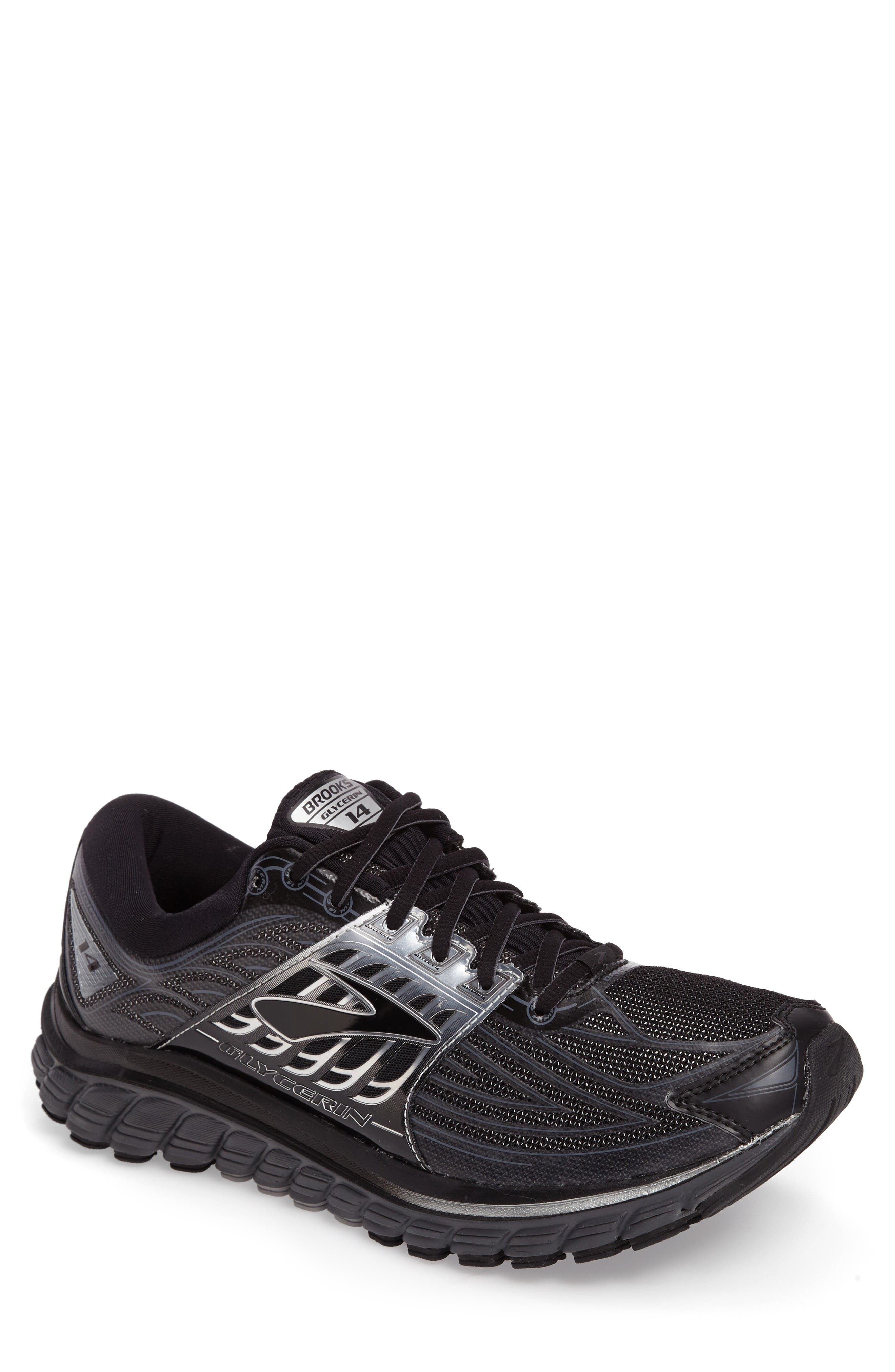 'Glycerin 14' Running Shoe,                             Main thumbnail 1, color,                             Black/ Anthracite/ Silver