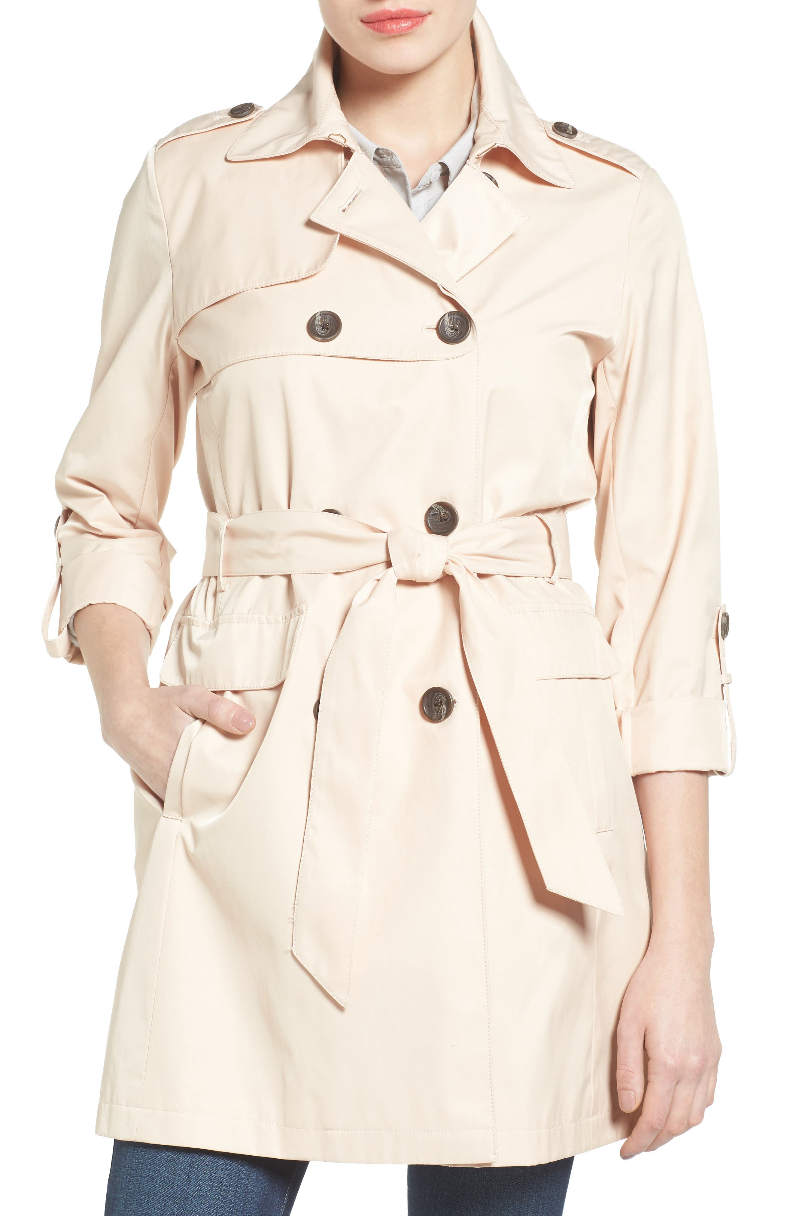 Vince Camuto Double Gunflap Trench Coat