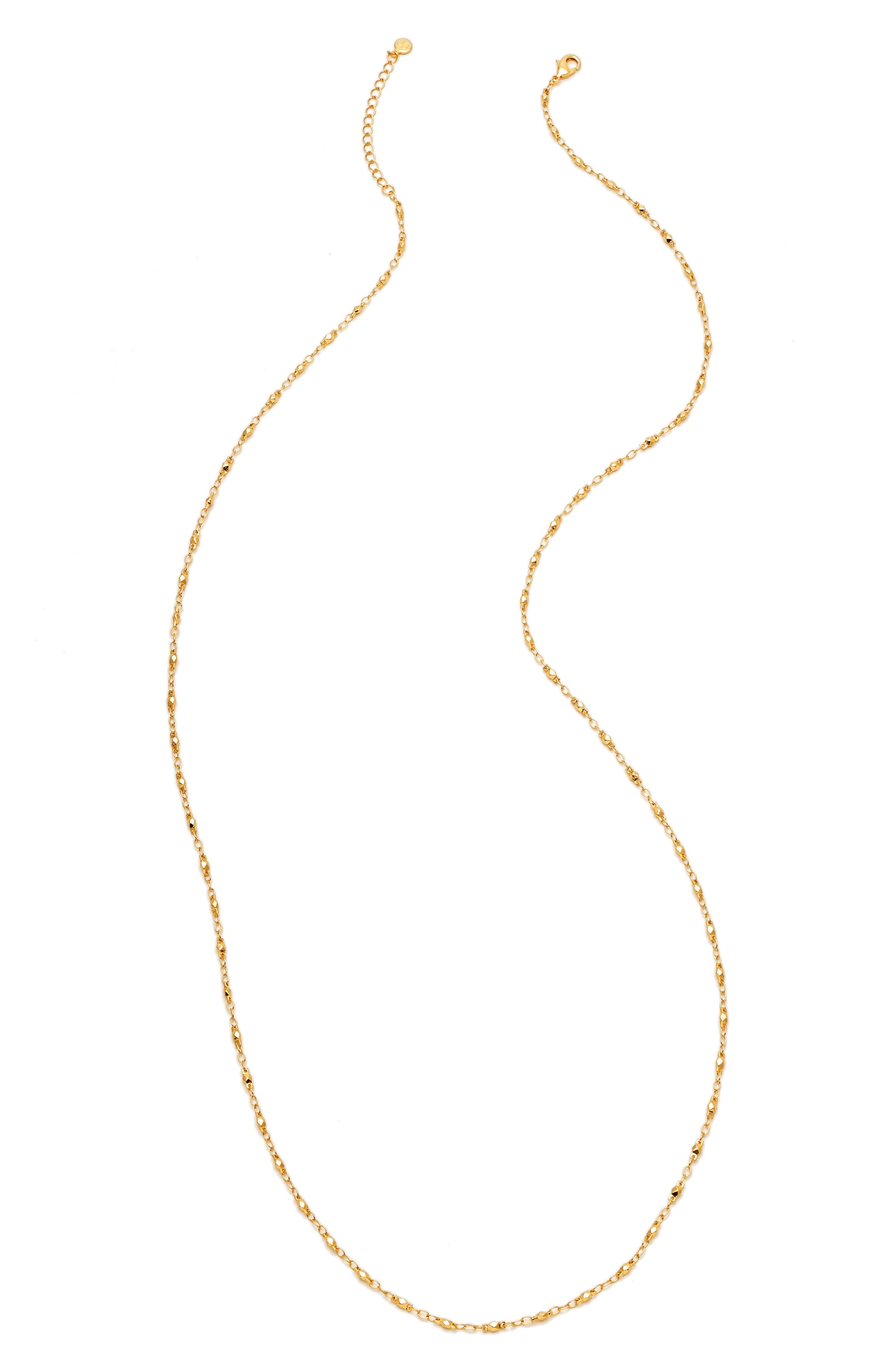 Multistrand Beaded Necklace,                         Main,                         color, Gold