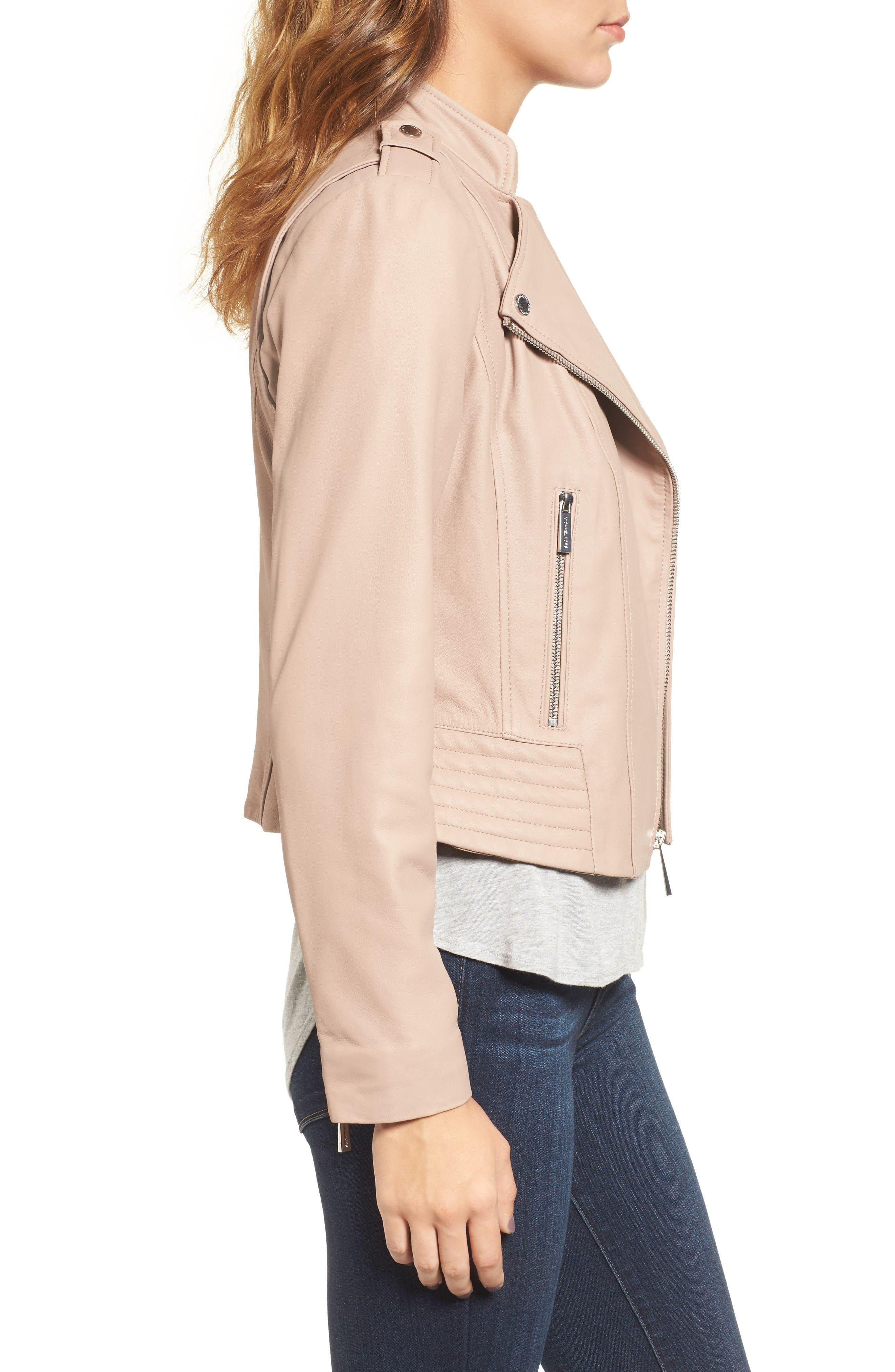 Alternate Image 3  - MICHAEL Michael Kors Leather Moto Jacket