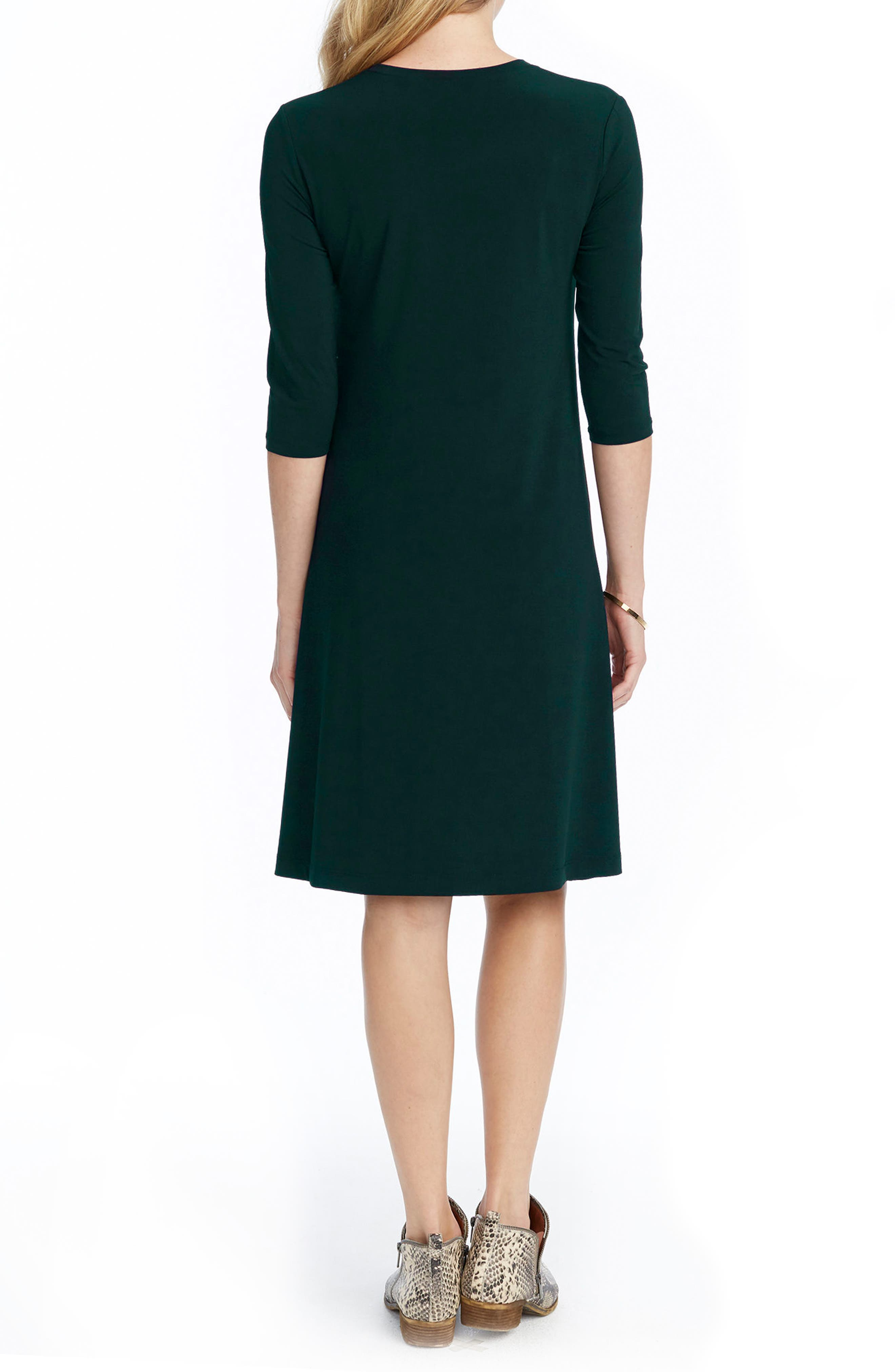 Tamra Maternity Swing Dress,                             Alternate thumbnail 2, color,                             Emerald