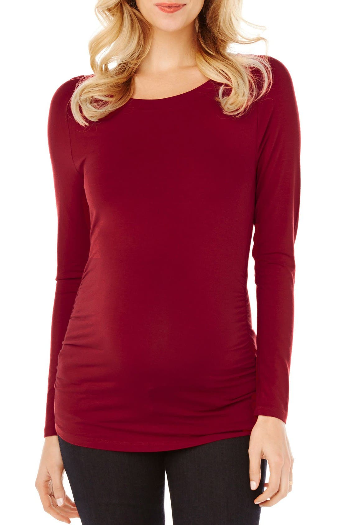 Alternate Image 1 Selected - Rosie Pope 'Sylvie' Long Sleeve Maternity Tee