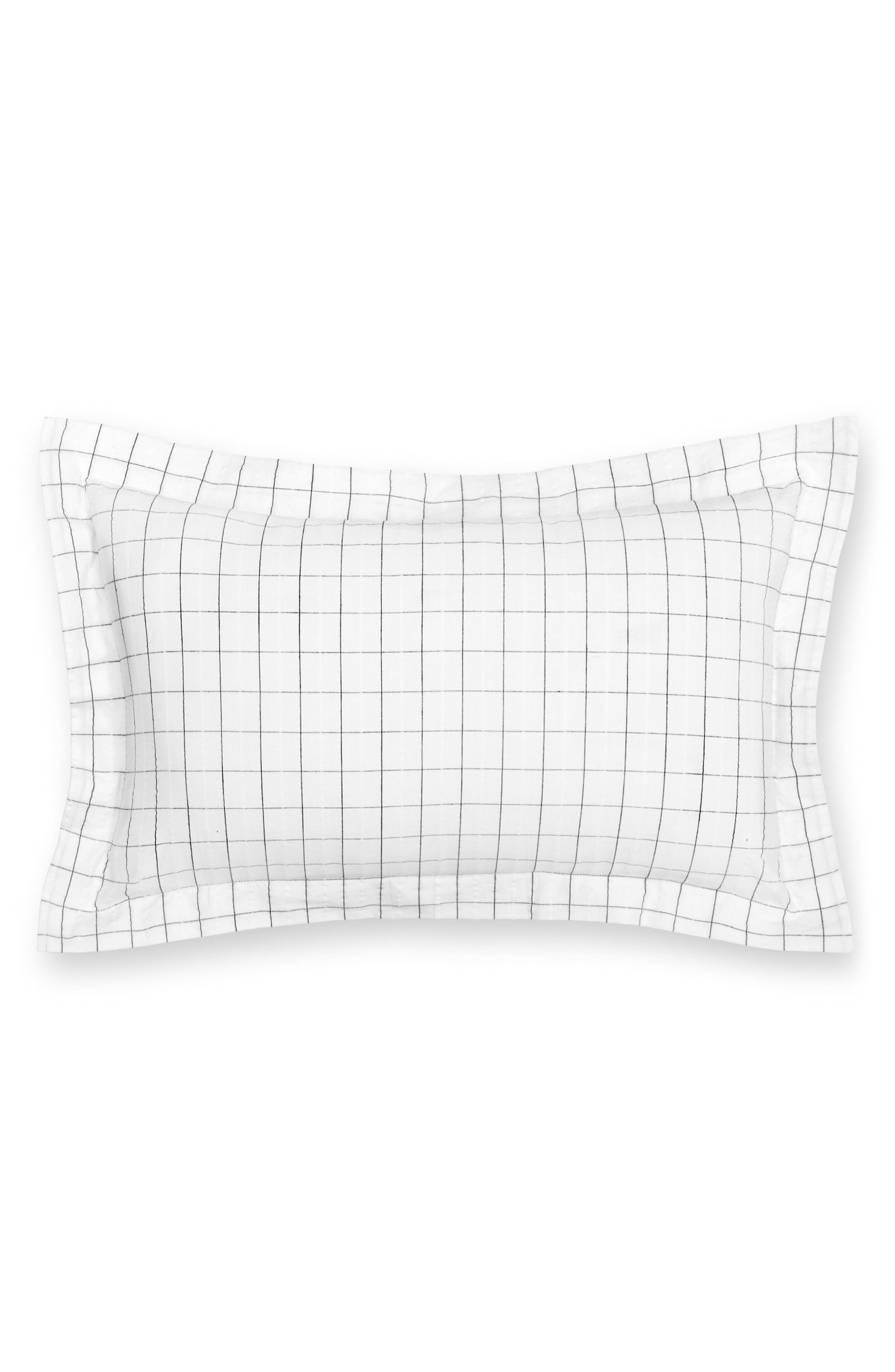 Cambridge Square Organic Cotton Breakfast Pillow,                             Main thumbnail 1, color,                             Ivory