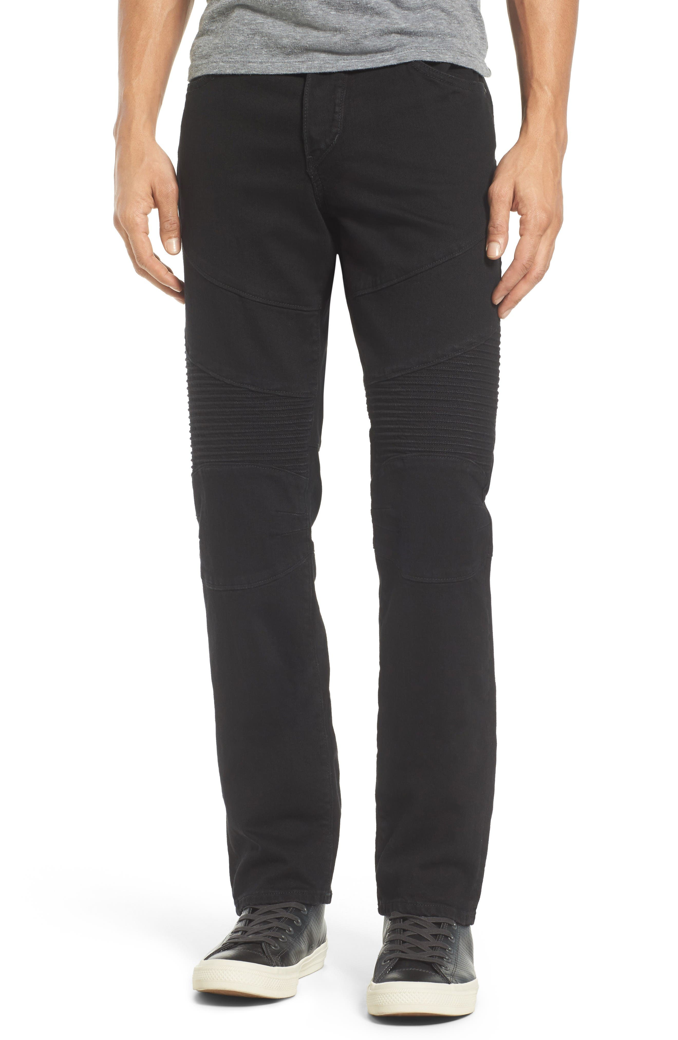 True Religion Brand Jeans Rocco Skinny Fit Jeans (2SB Rinse Black) (Regular & Big)