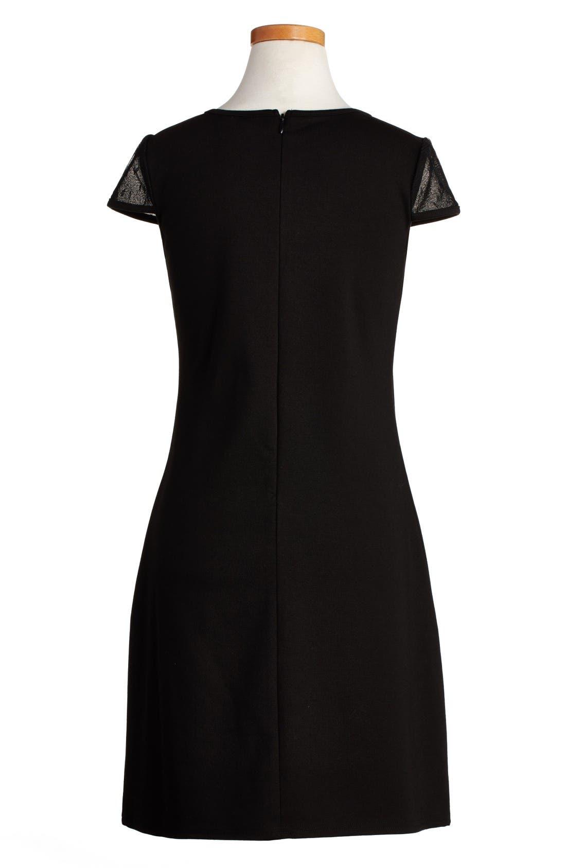 Empire Sheath Dress,                             Alternate thumbnail 2, color,                             Black