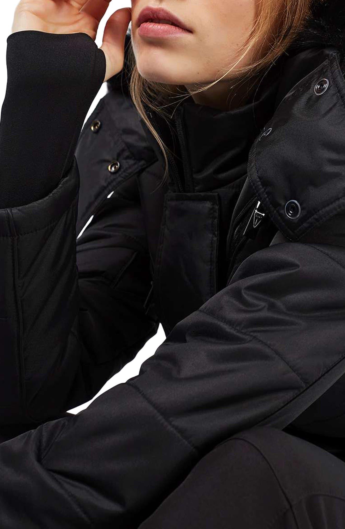 Alternate Image 6  - Topshop Bowie Faux Fur Trim Ski Jacket