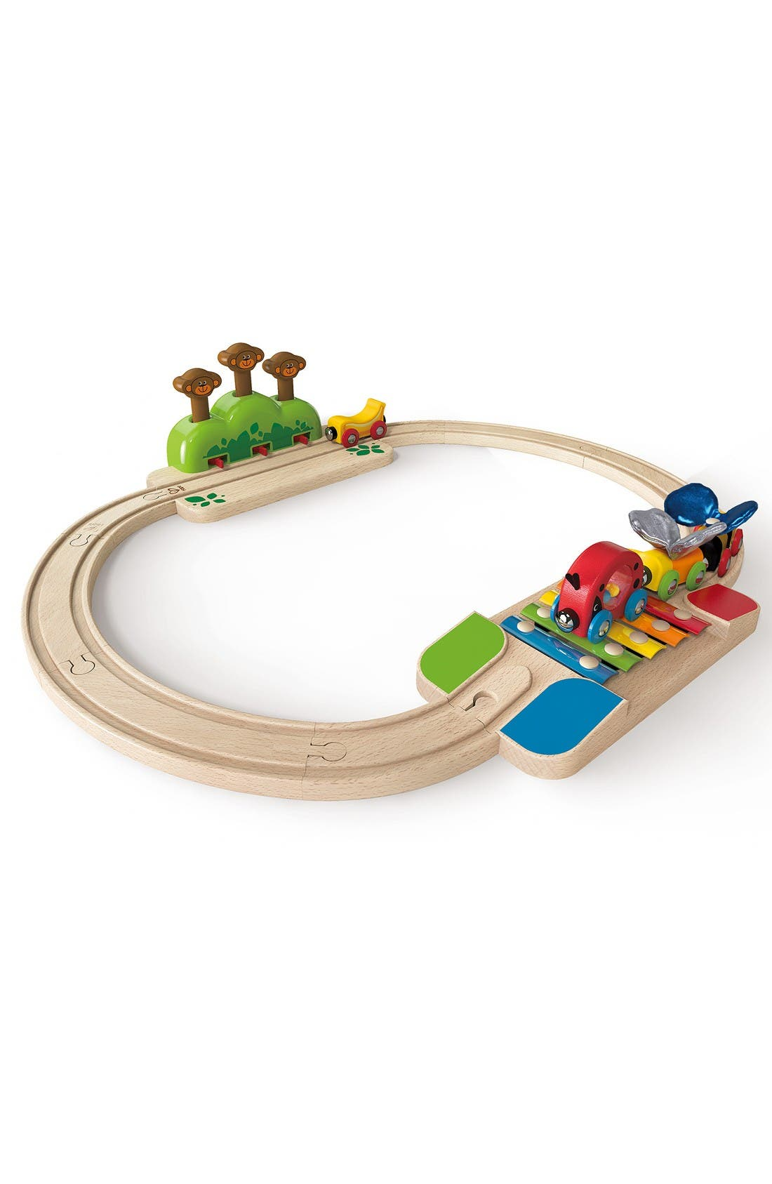 My Little Railway Wooden Train Set,                         Main,                         color, Multi