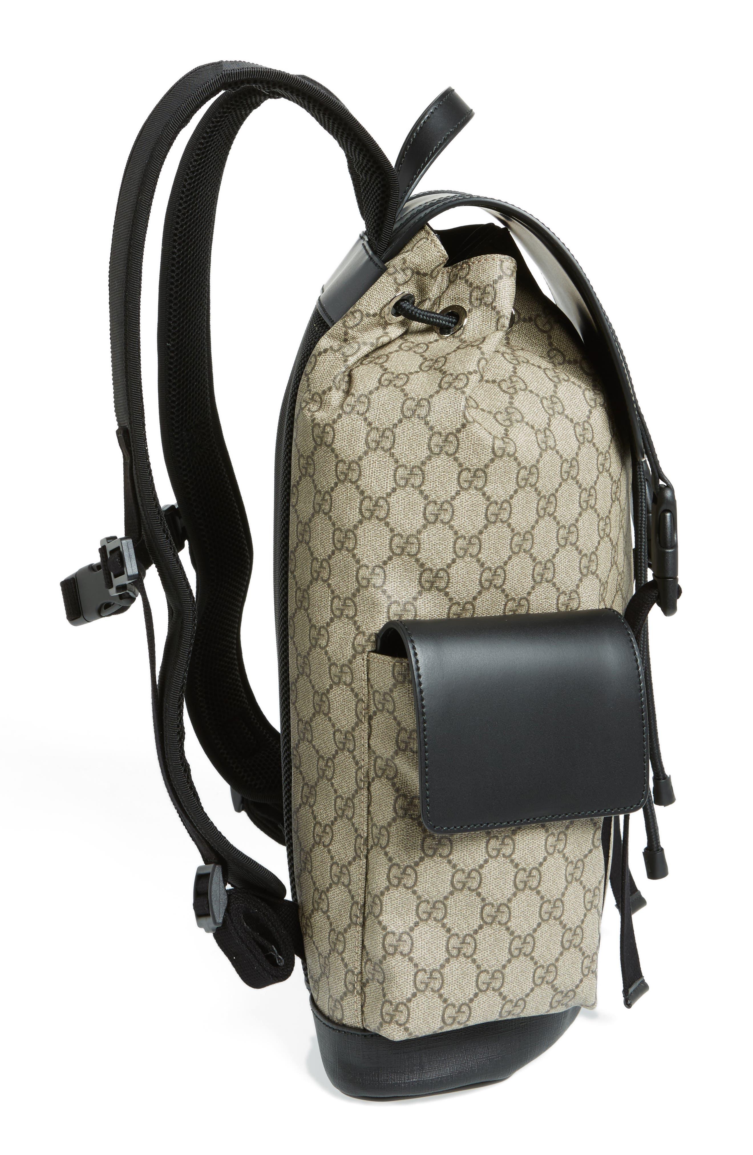 Alternate Image 5  - Gucci Eden Flap Top Canvas Backpack