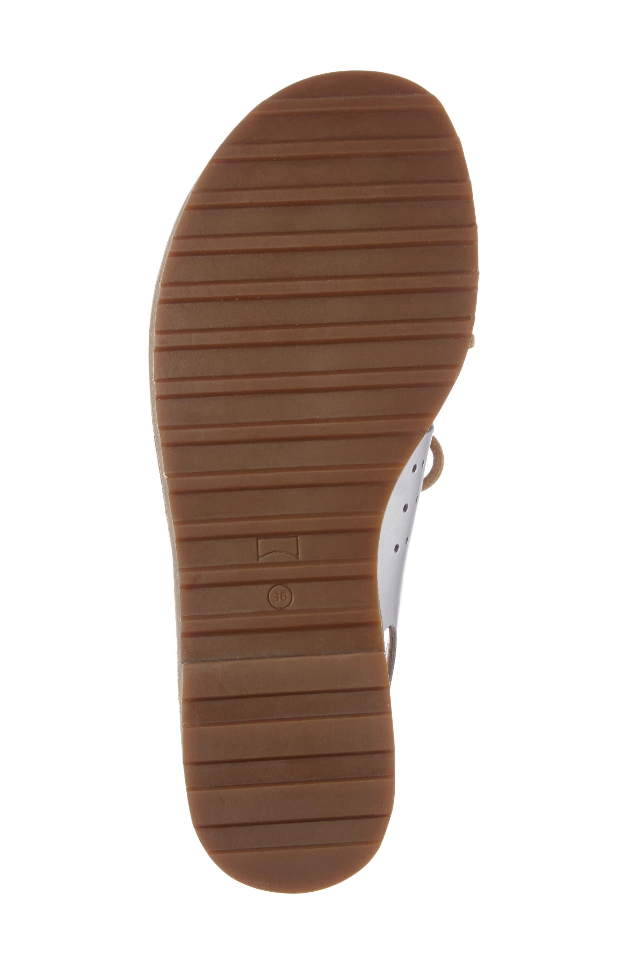 Alternate Image 4  - Camper Lace-Up Sandal (Women)
