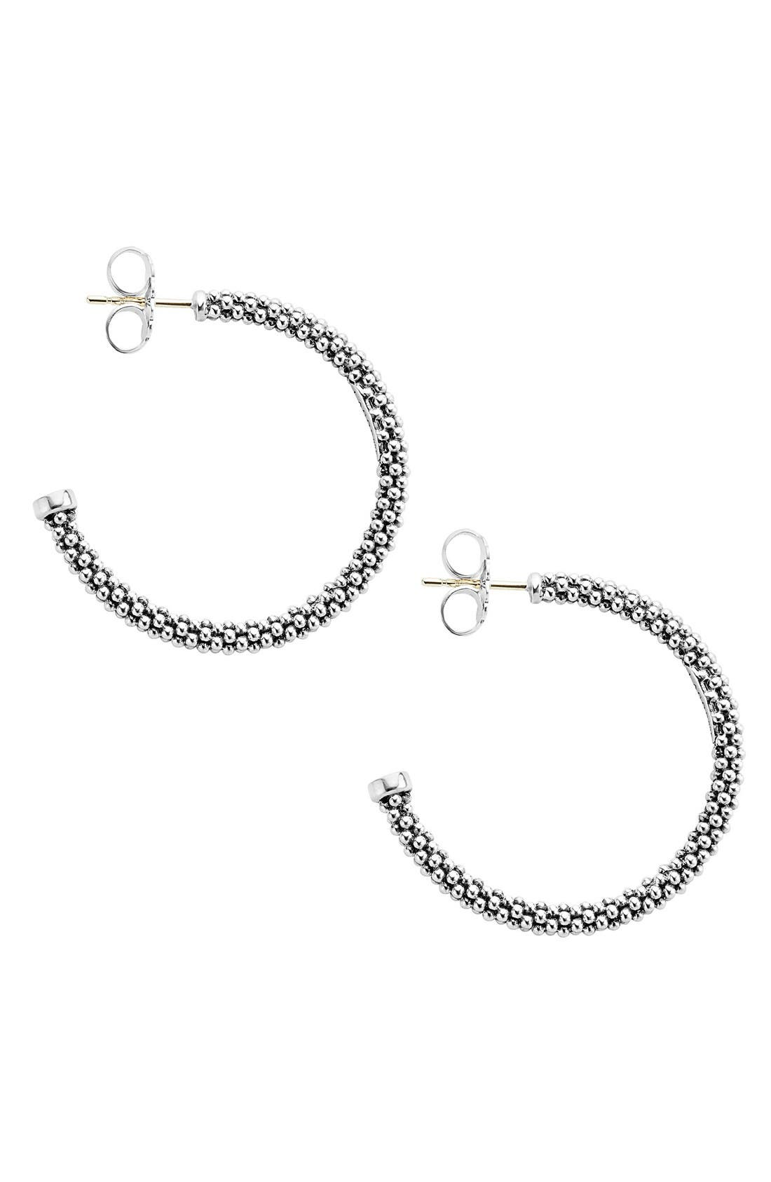 Alternate Image 3  - Lagos Caviar Hoop Earrings (Online Only)