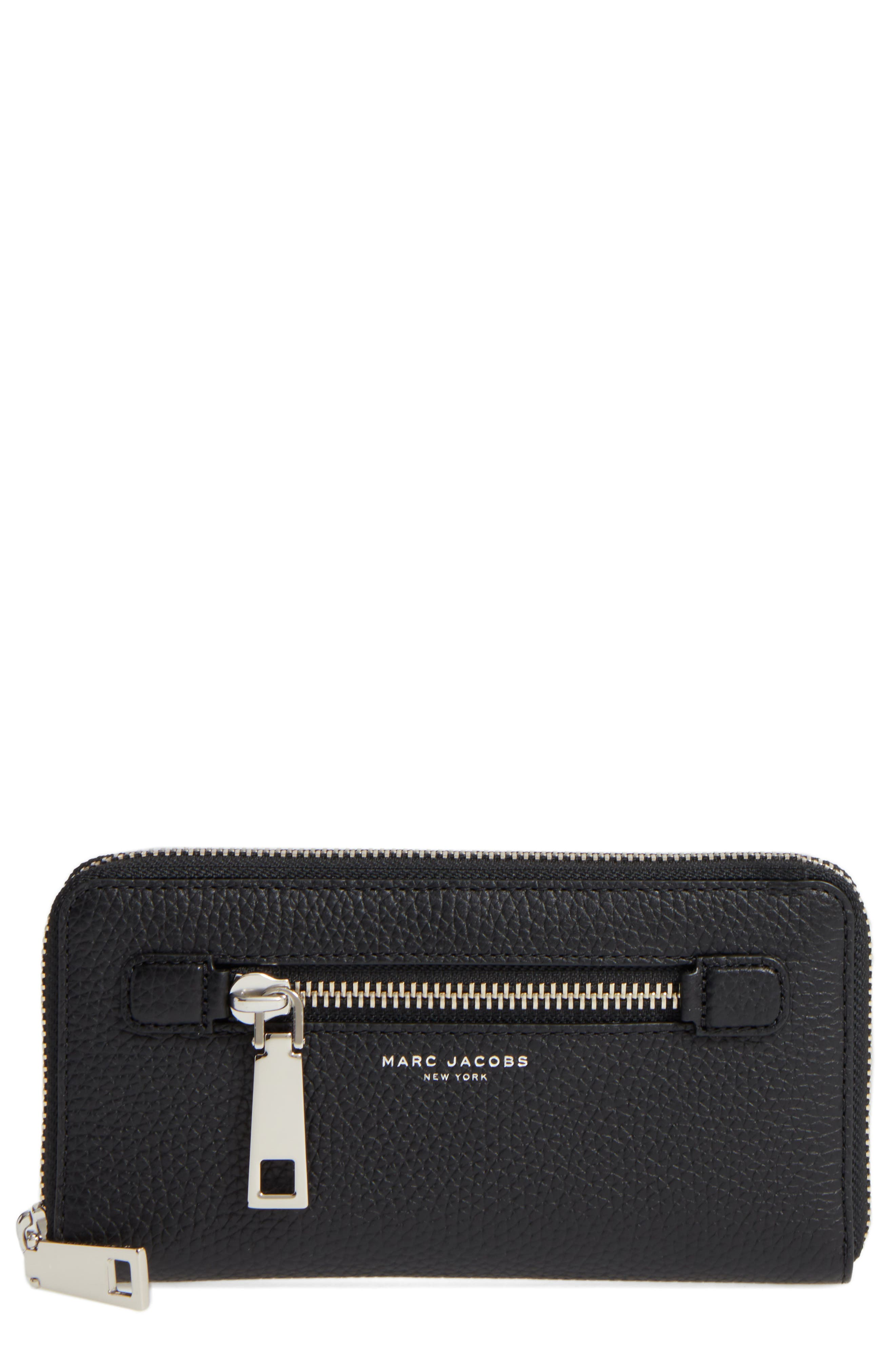 Vertical Zippy Wallet,                             Main thumbnail 1, color,                             Black