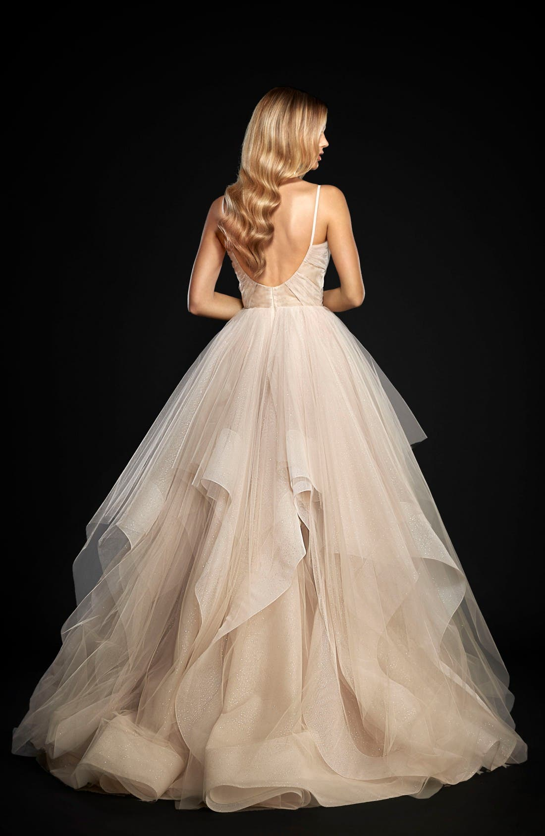 Alternate Image 2  - Hayley Paige Chandon Stardust Tulle Ballgown