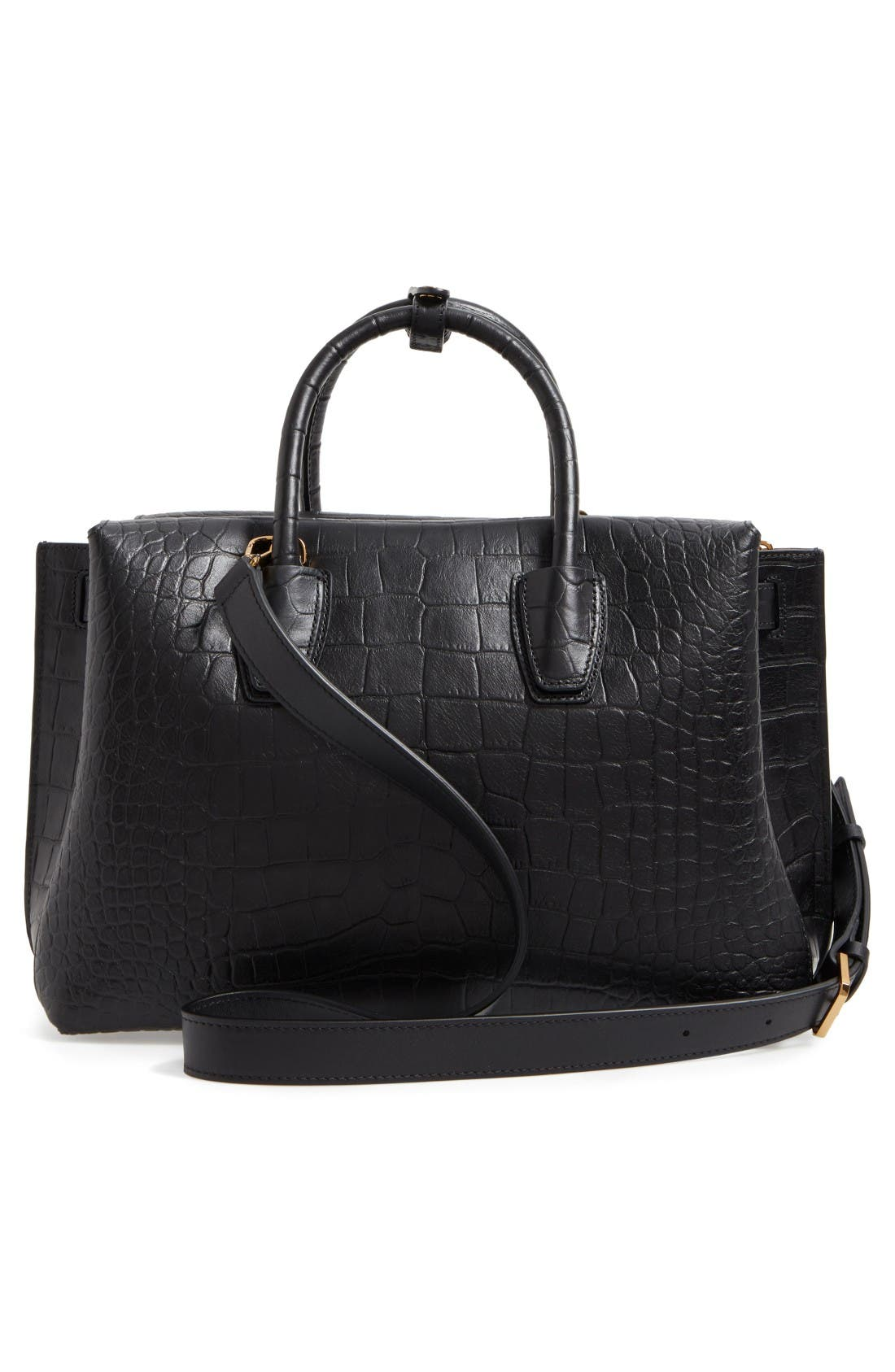 Alternate Image 3  - MCM Medium Milla Croc Embossed Leather Tote