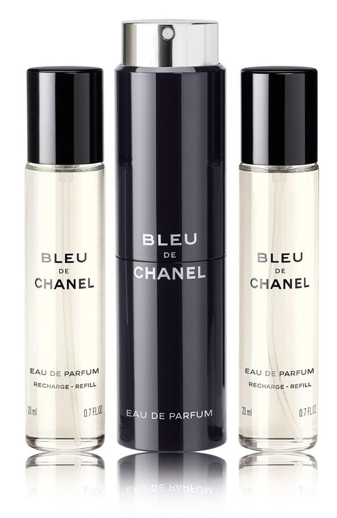 Main Image - CHANEL BLEU DE CHANEL EAU DE PARFUM POUR HOMME  Refillable Travel Spray Set