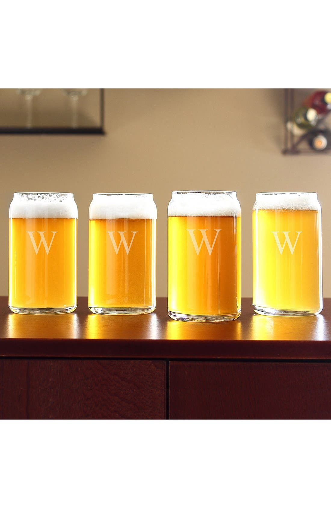 Personalized Craft Home Brew Can Glasses,                             Alternate thumbnail 2, color,