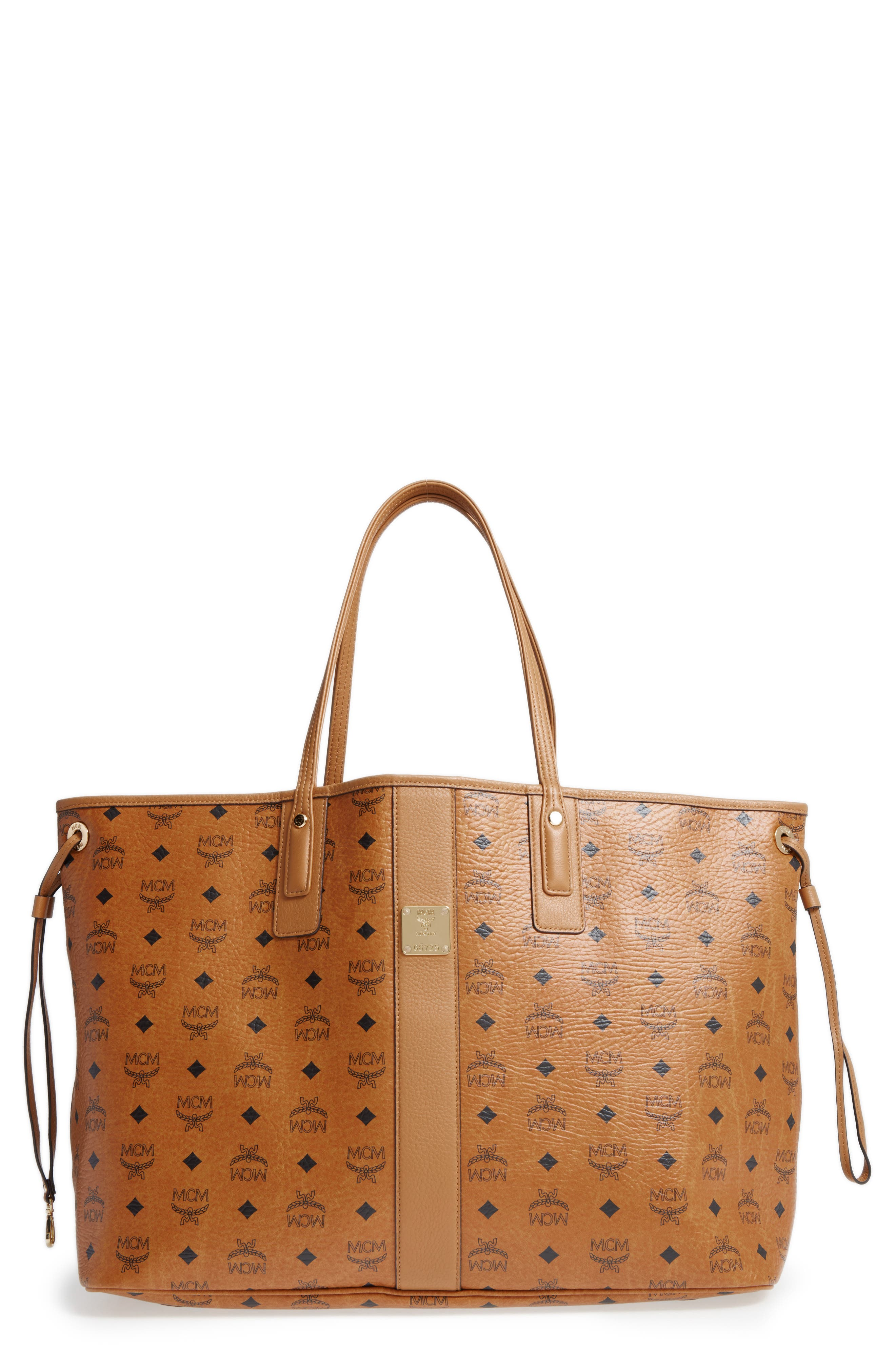mcm u0027large lizu0027 reversible shopper - Large Tote Bags