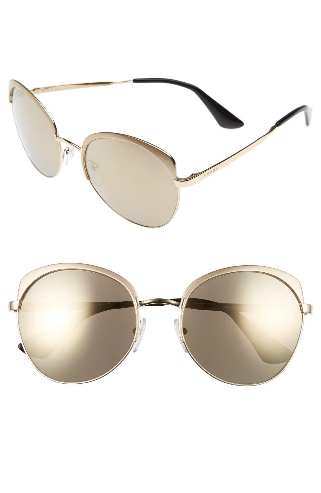 59mm Sunglasses,                         Main,                         color, Pale Gold