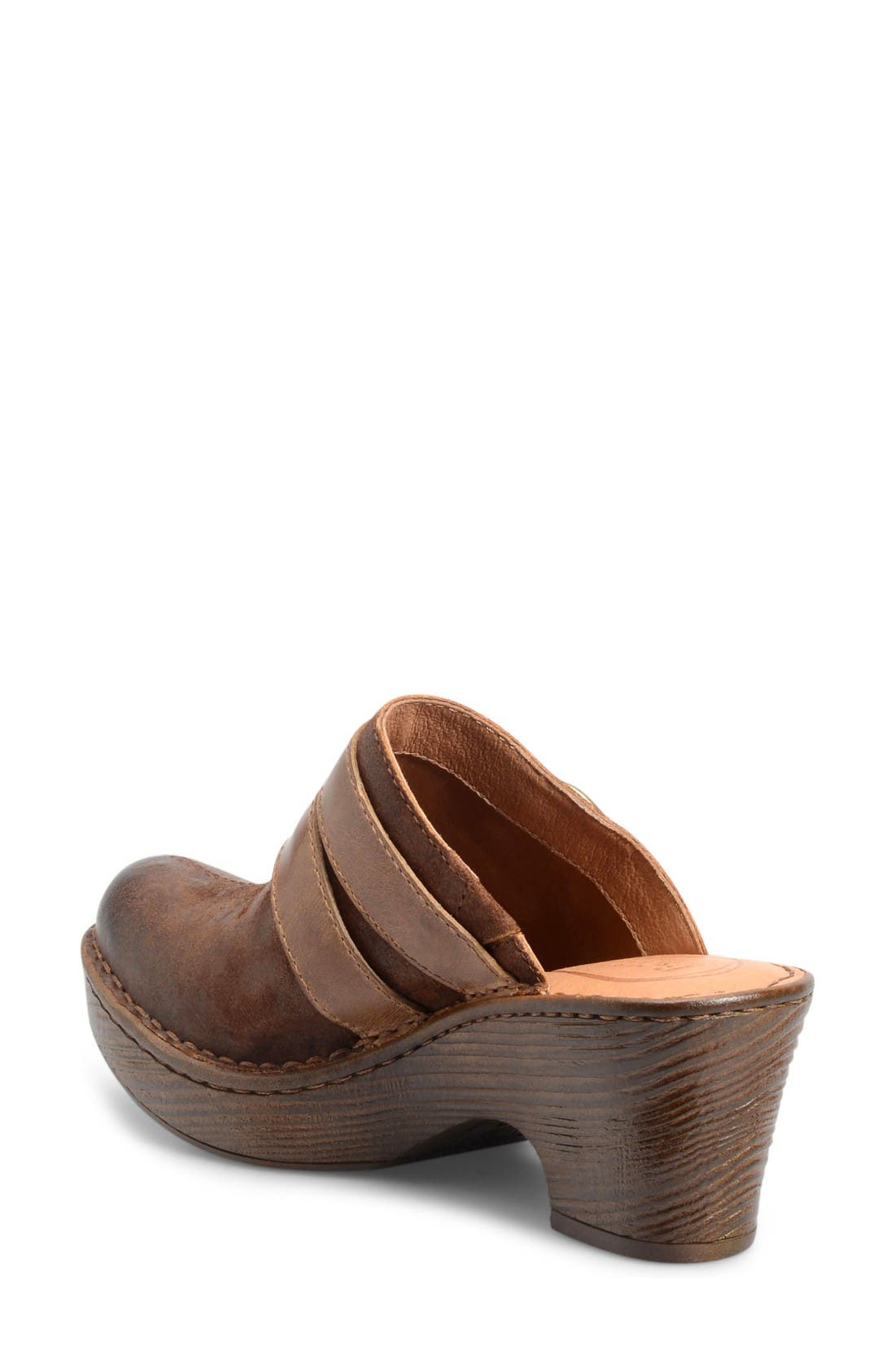 Laura Platform Clog,                             Alternate thumbnail 2, color,                             Rust Leather
