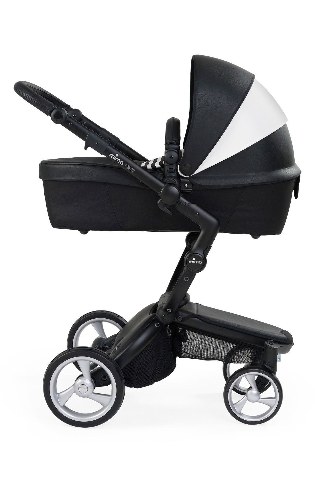 Alternate Image 4  - Mima Xari Black Chassis Stroller with Reversible Reclining Seat & Carrycot