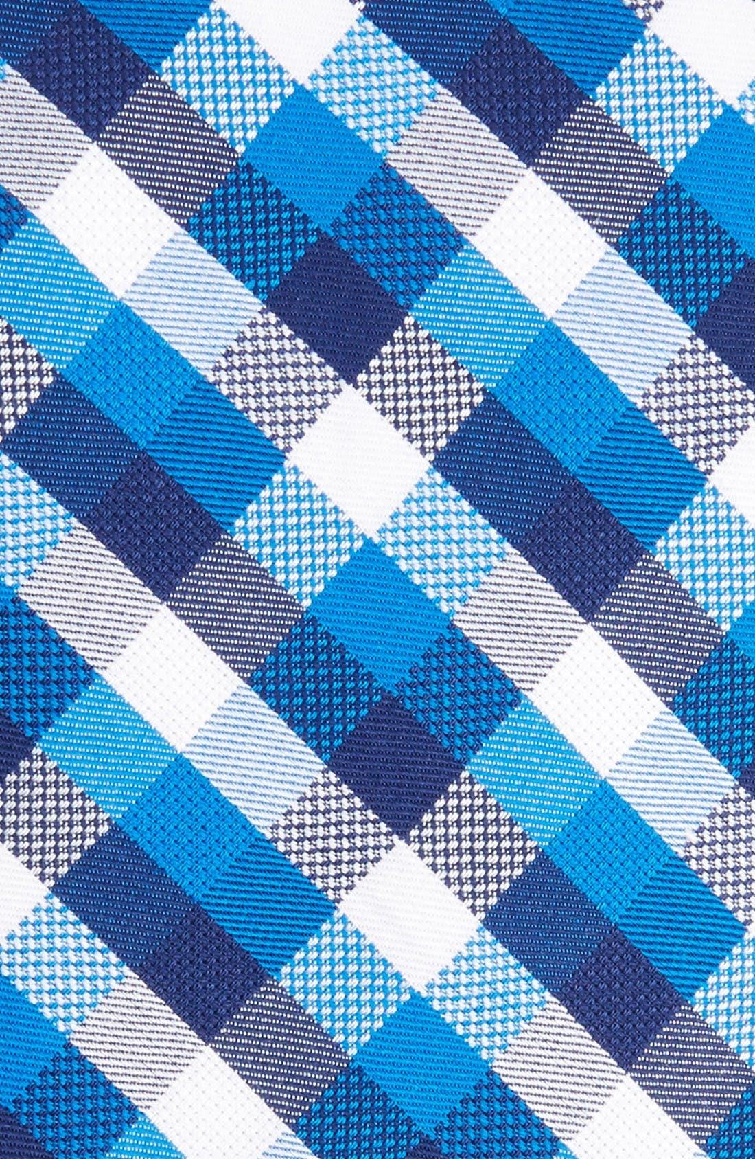 Scott Check Cotton Skinny Tie,                             Alternate thumbnail 2, color,                             Blue
