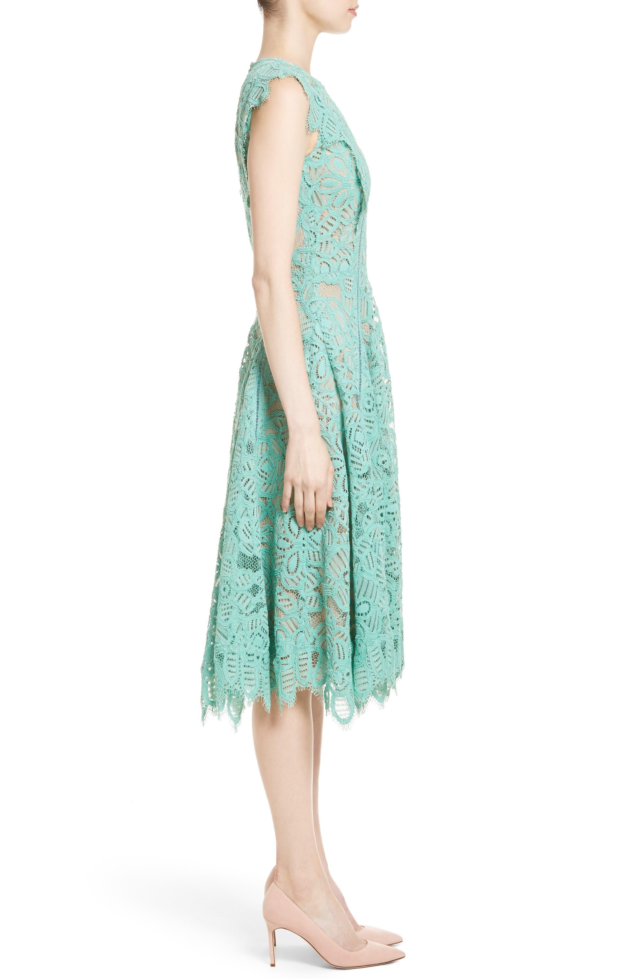 Alternate Image 5  - Lela Rose Lace Fit & Flare Dress