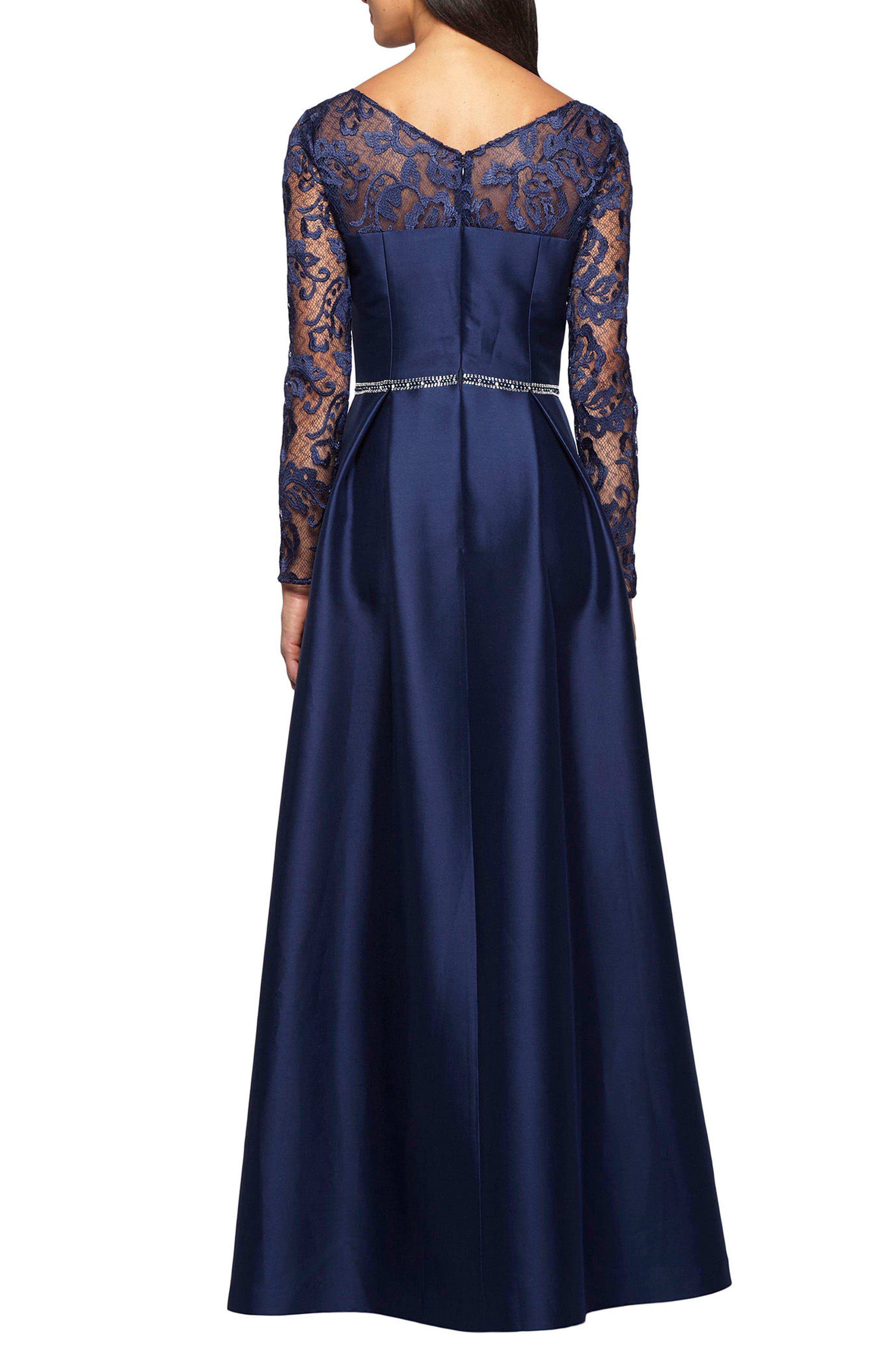 Alternate Image 2  - Alex Evenings Illusion Neckline Gown