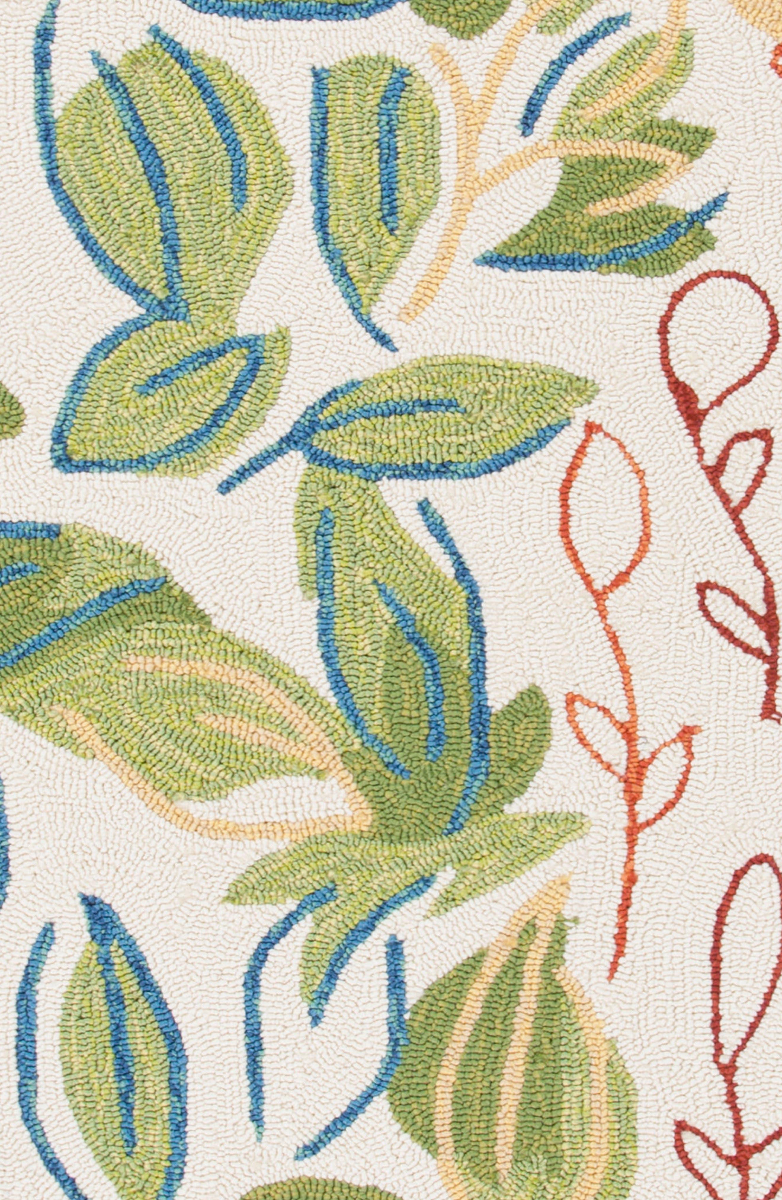 Garden Indoor/Outdoor Rug,                             Alternate thumbnail 4, color,                             Green/ Ivory