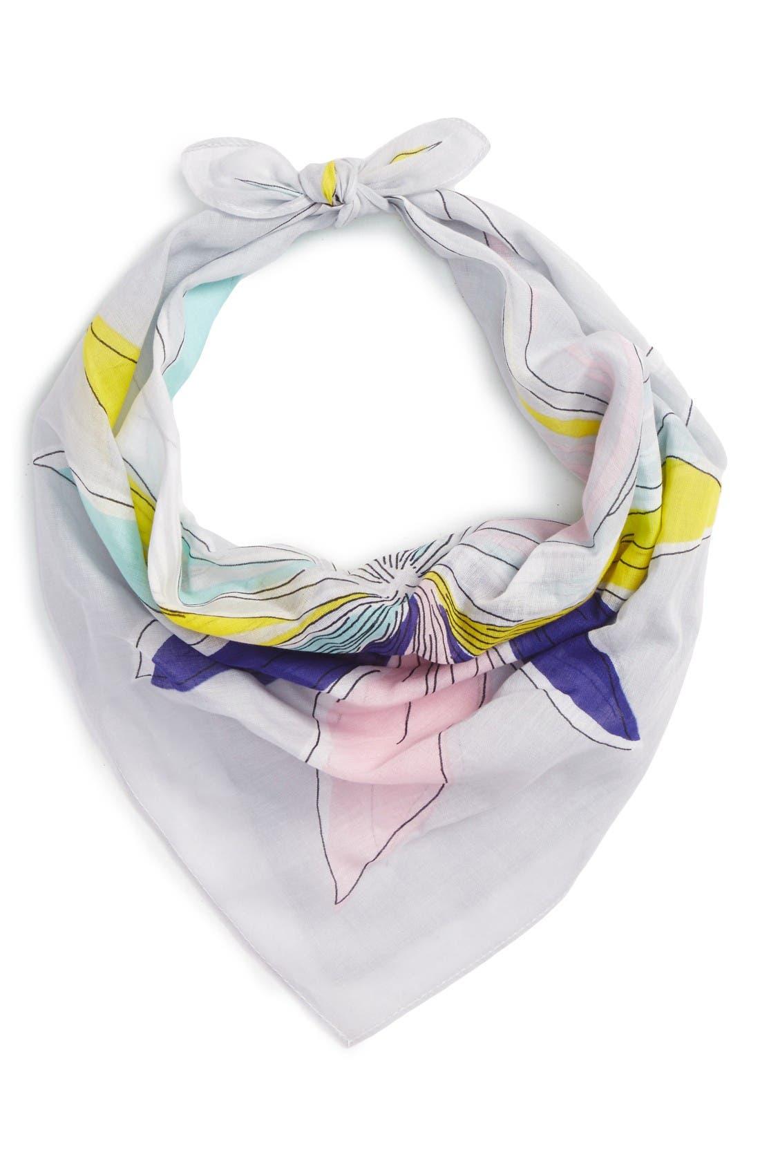 Main Image - Echo Floral Cotton Scarf