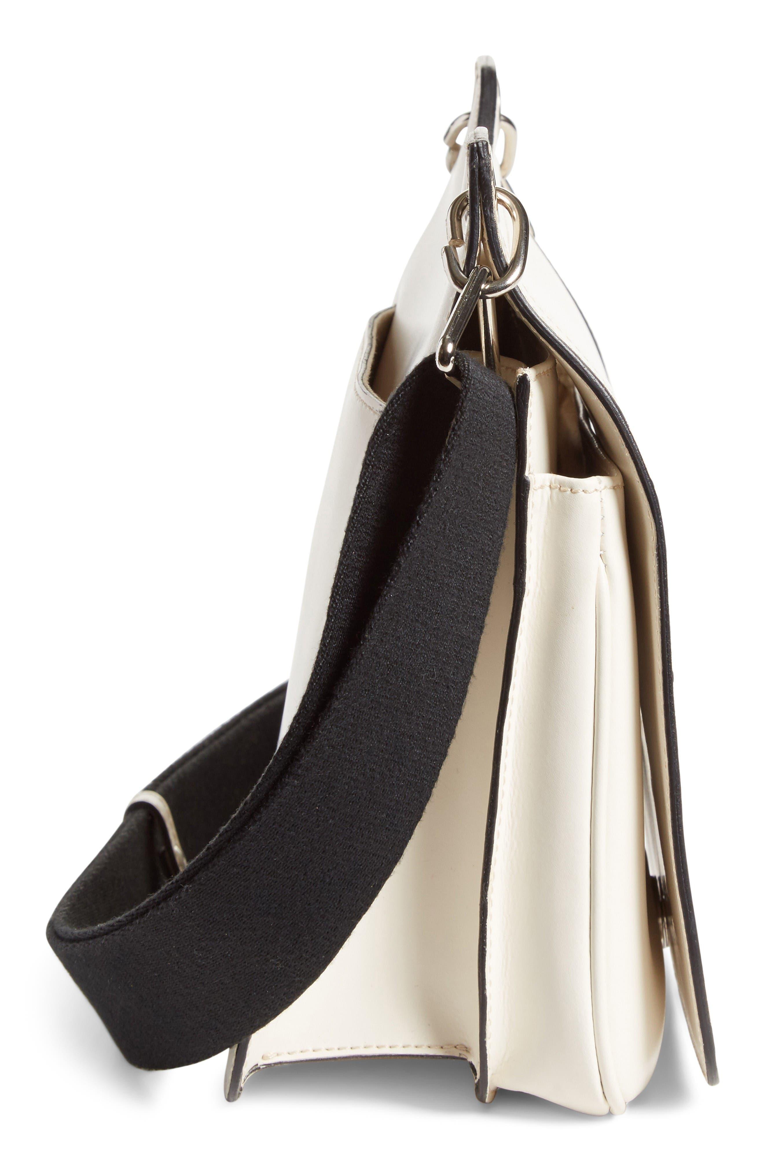 Equestrian Crossbody Bag,                             Alternate thumbnail 5, color,                             White