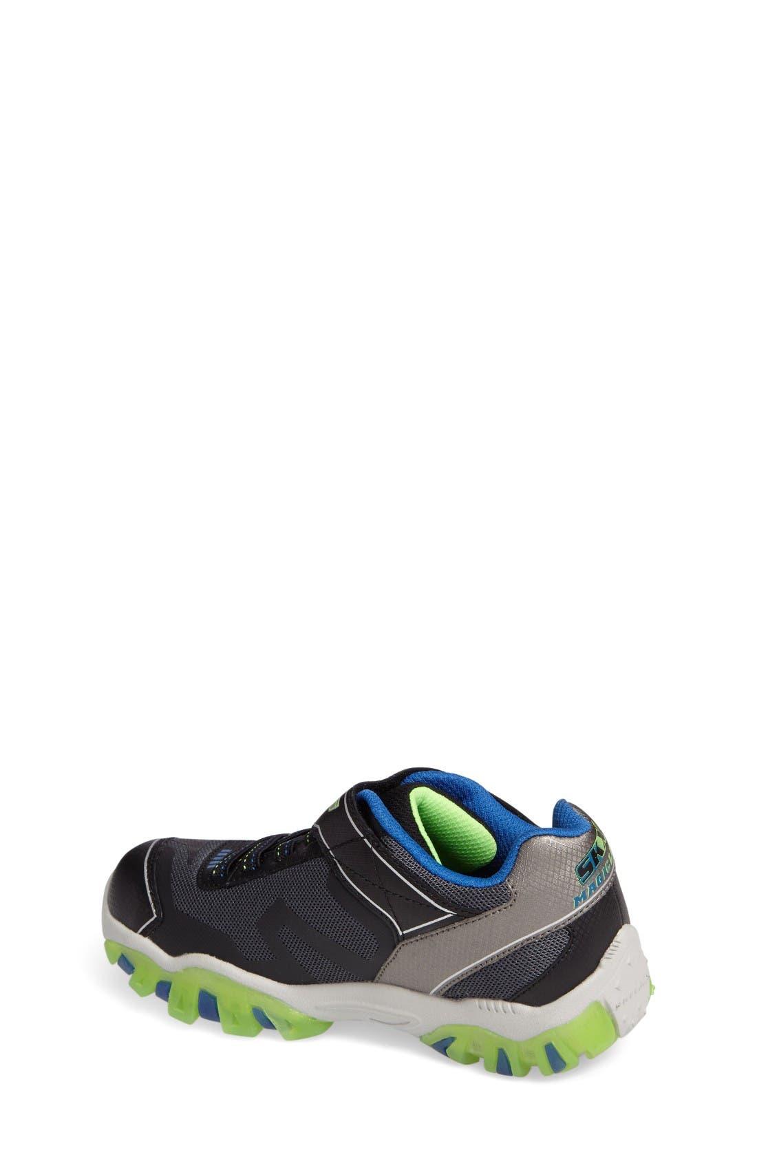 Magic Lites - Street Lightz 2.0 Light-Up Sneaker,                             Alternate thumbnail 2, color,                             Black/ Green