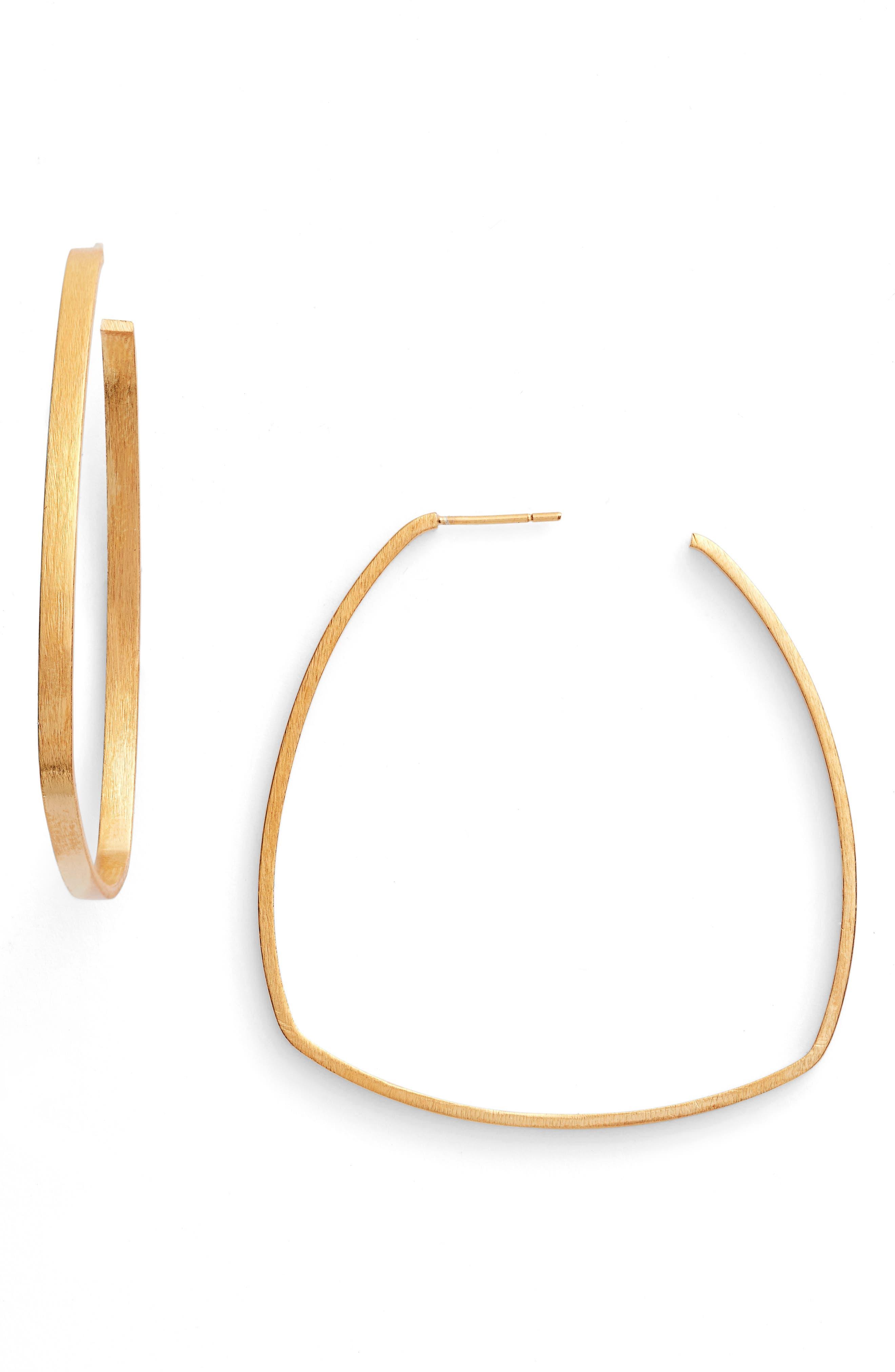 Square Hoop Earrings,                         Main,                         color, Gold