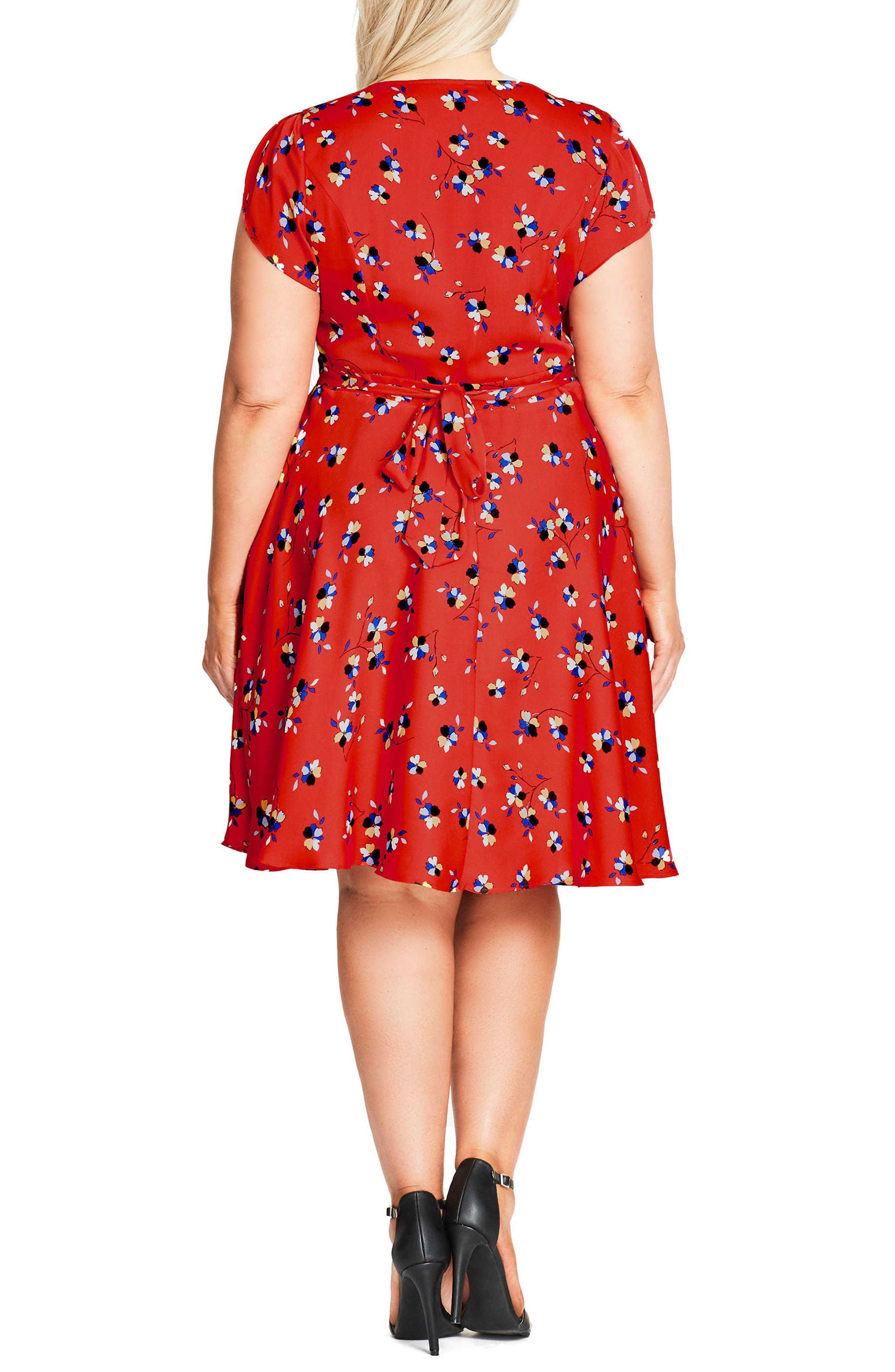 Alternate Image 2  - City Chic Cutie Pie Fit & Flare Dress (Plus Size)