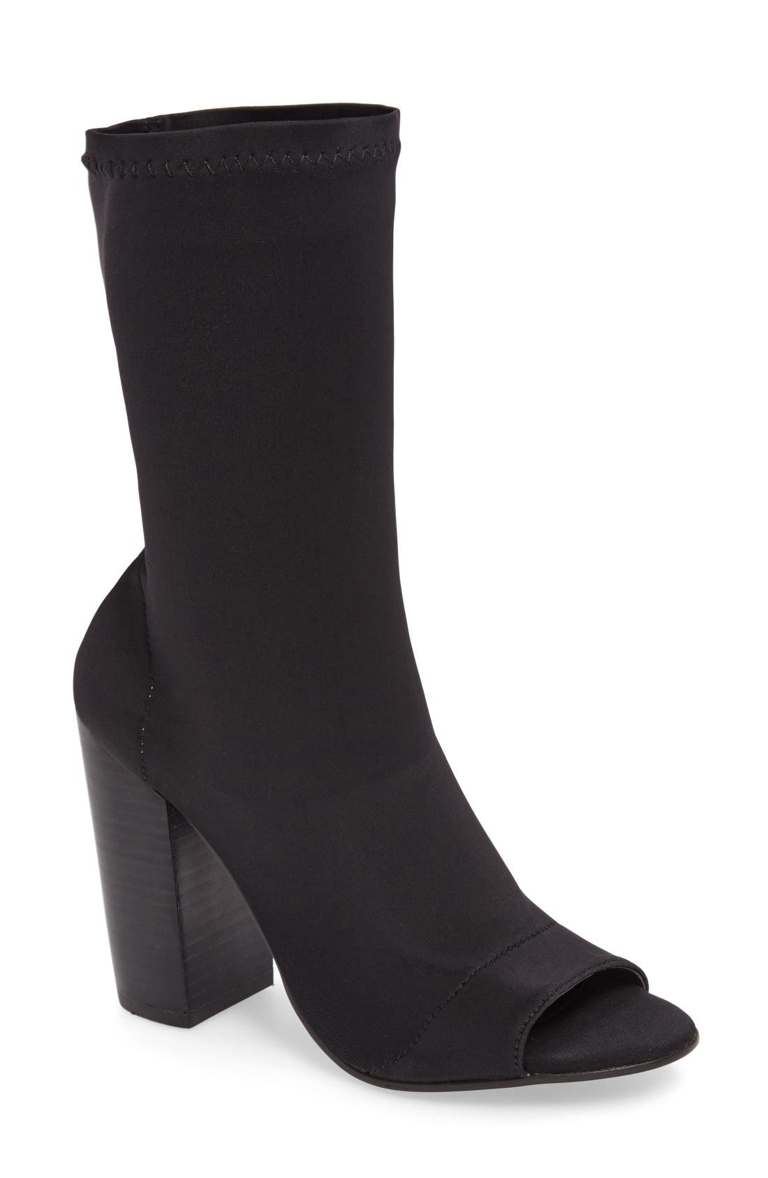 Alternate Image 1 Selected - Tony Bianco Malo Open Toe Stretch Bootie (Women)
