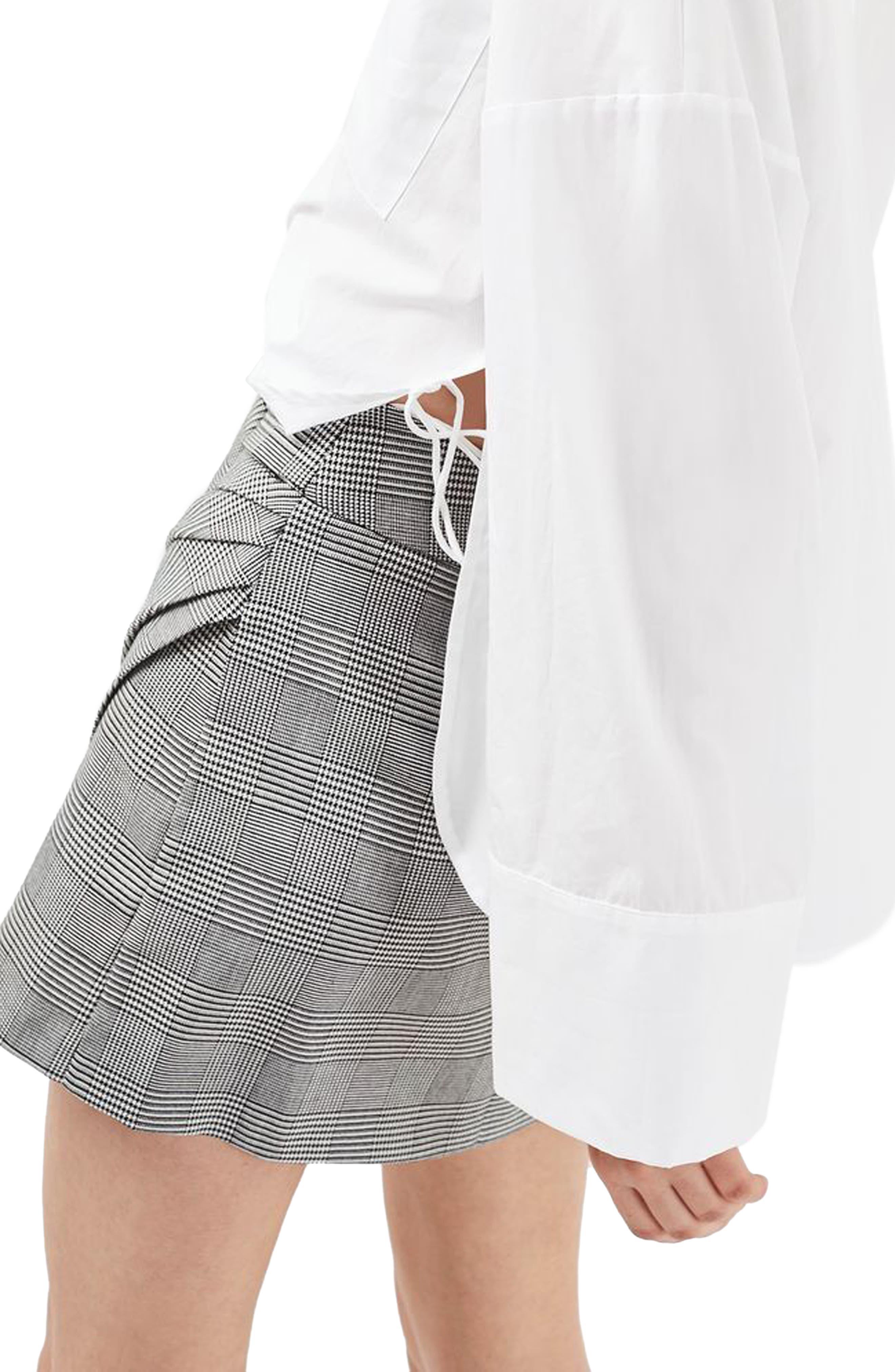 Alternate Image 3  - Topshop Belted Glen Plaid Miniskirt
