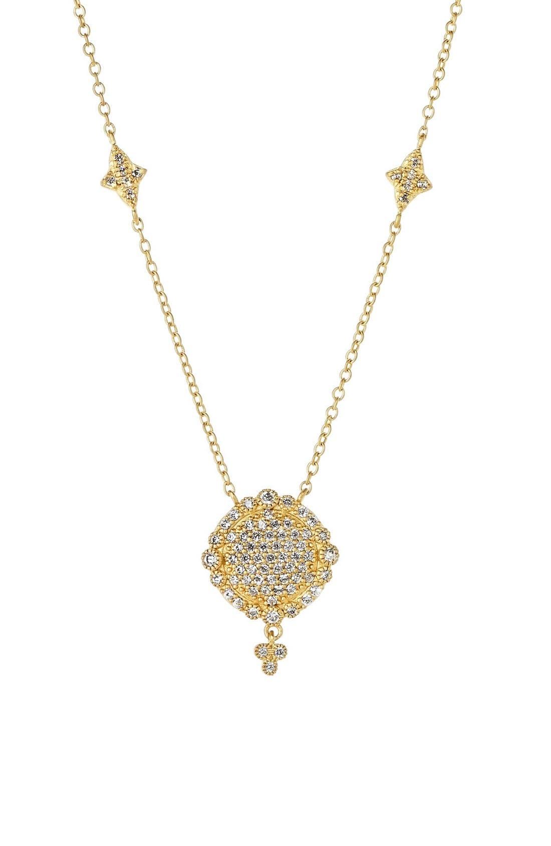 FREIDA ROTHMAN 'Mercer' Pavé Pendant Necklace