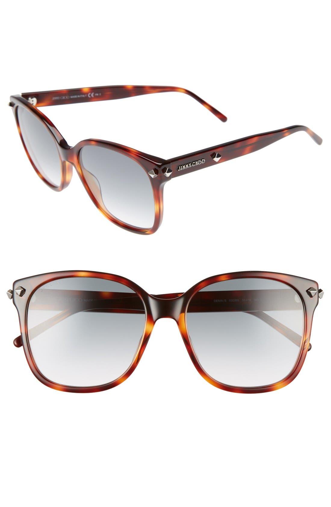 Demas 56mm Sunglasses,                         Main,                         color, Havana