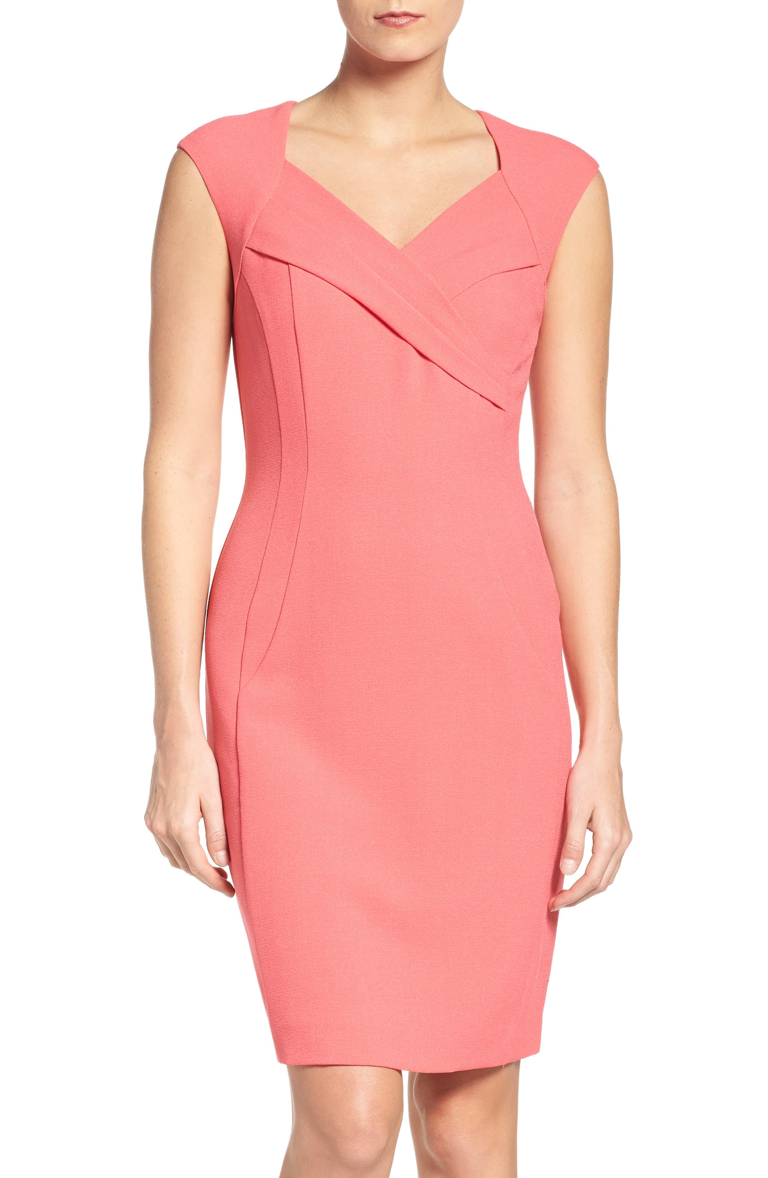 Alternate Image 1 Selected - Ellen Tracy Crepe Sheath Dress