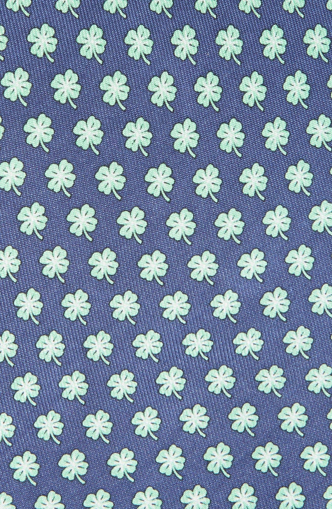 Print Silk Tie,                             Alternate thumbnail 2, color,                             Dark Blue