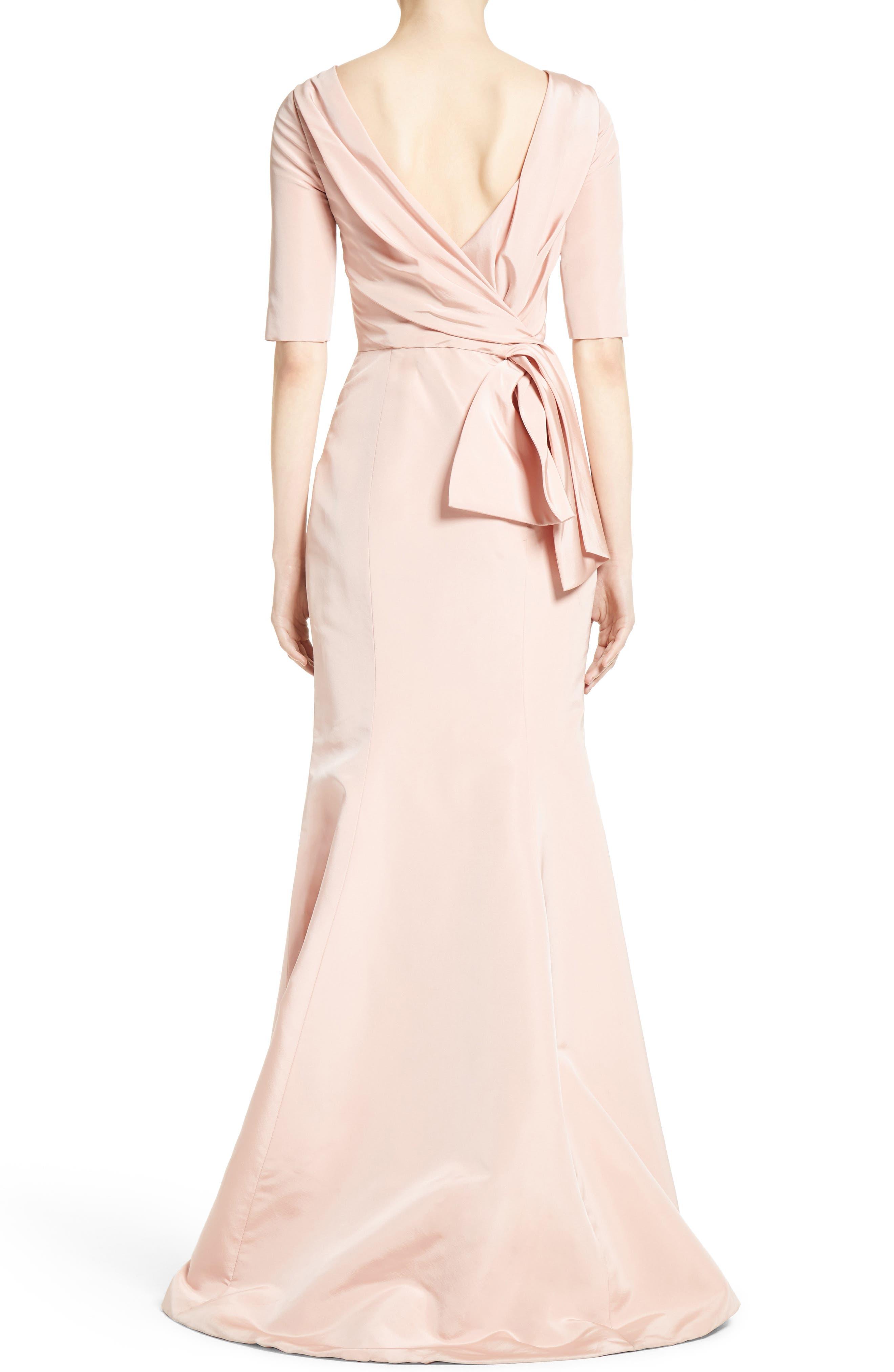 Alternate Image 2  - Carolina Herrera Draped V-Back Gown