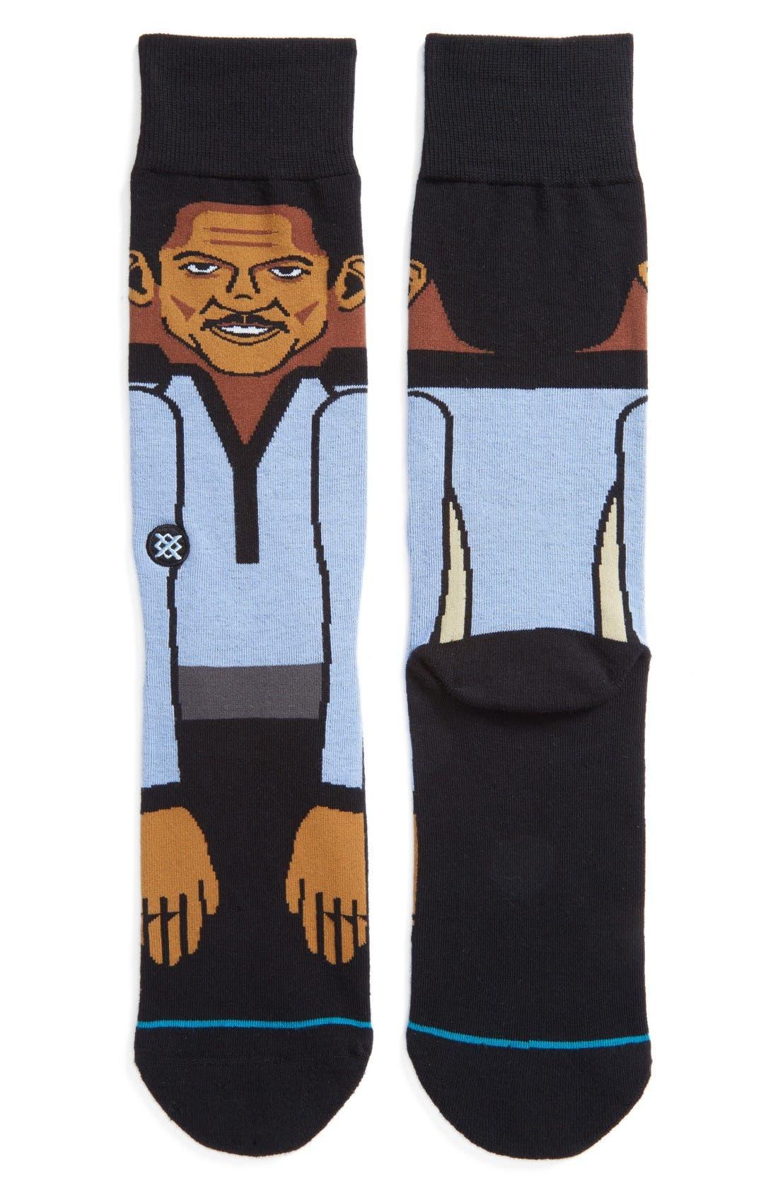 Star Wars Lando Socks,                             Main thumbnail 1, color,                             Blue