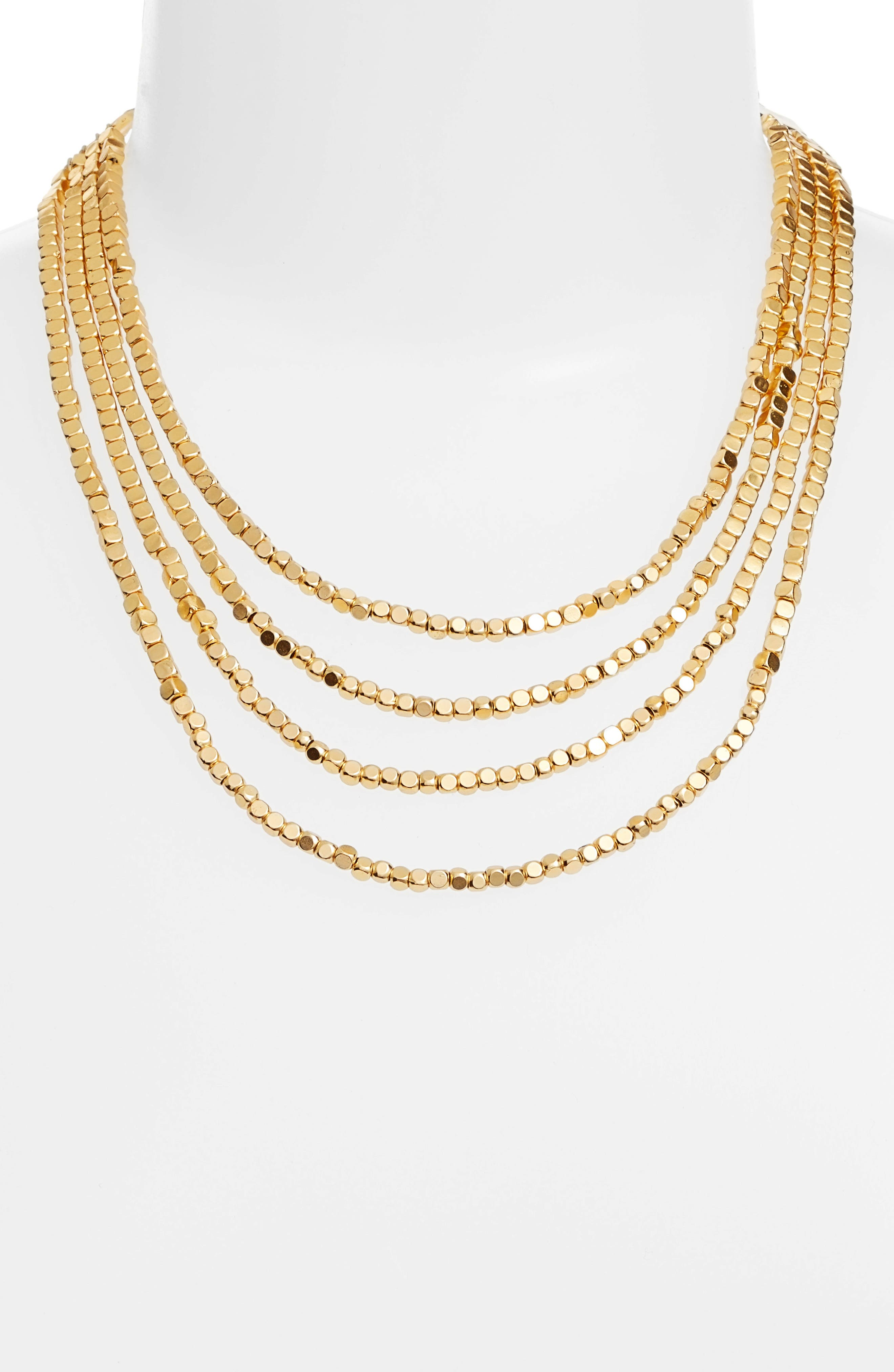 Ava Collar Necklace,                             Alternate thumbnail 2, color,                             Gold