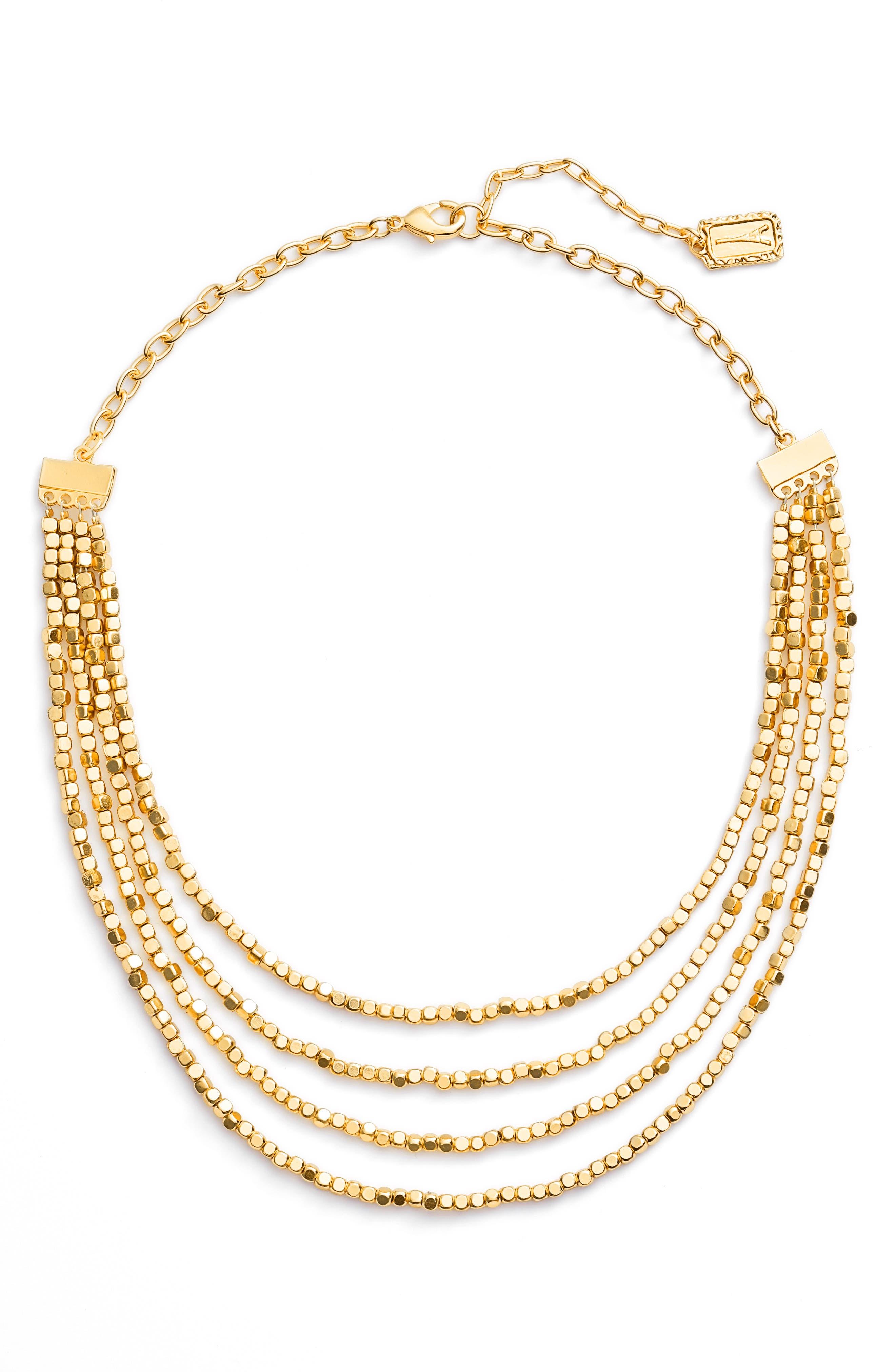Ava Collar Necklace,                             Main thumbnail 1, color,                             Gold