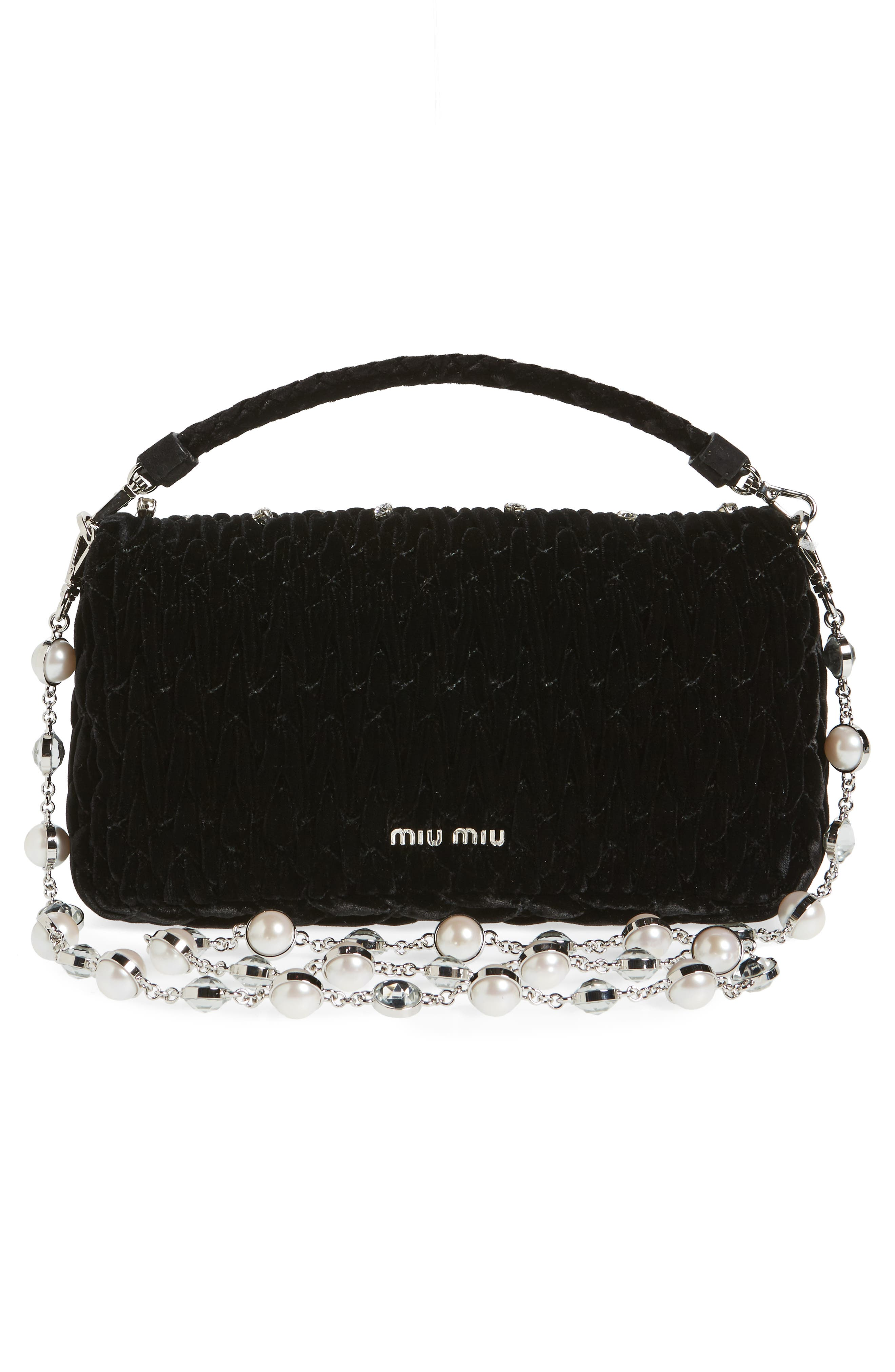 Alternate Image 3  - Miu Miu Velluto Crystal Embellished Crossbody Clutch