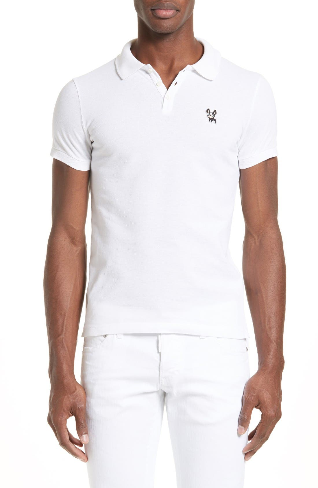 Main Image - Dsquared2 Ciro Dog Extra Trim Fit Polo