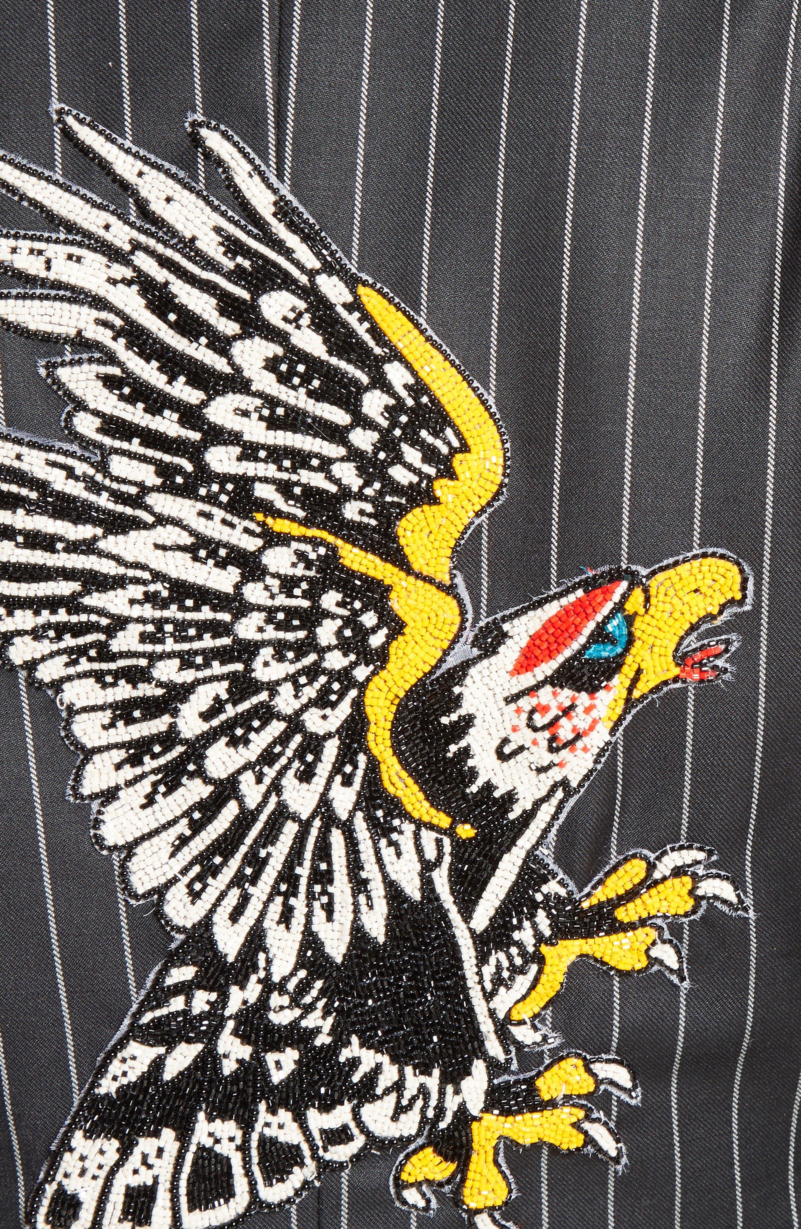 Alternate Image 3  - Dilara Findikoglu Embellished Pinstripe Suit Jacket