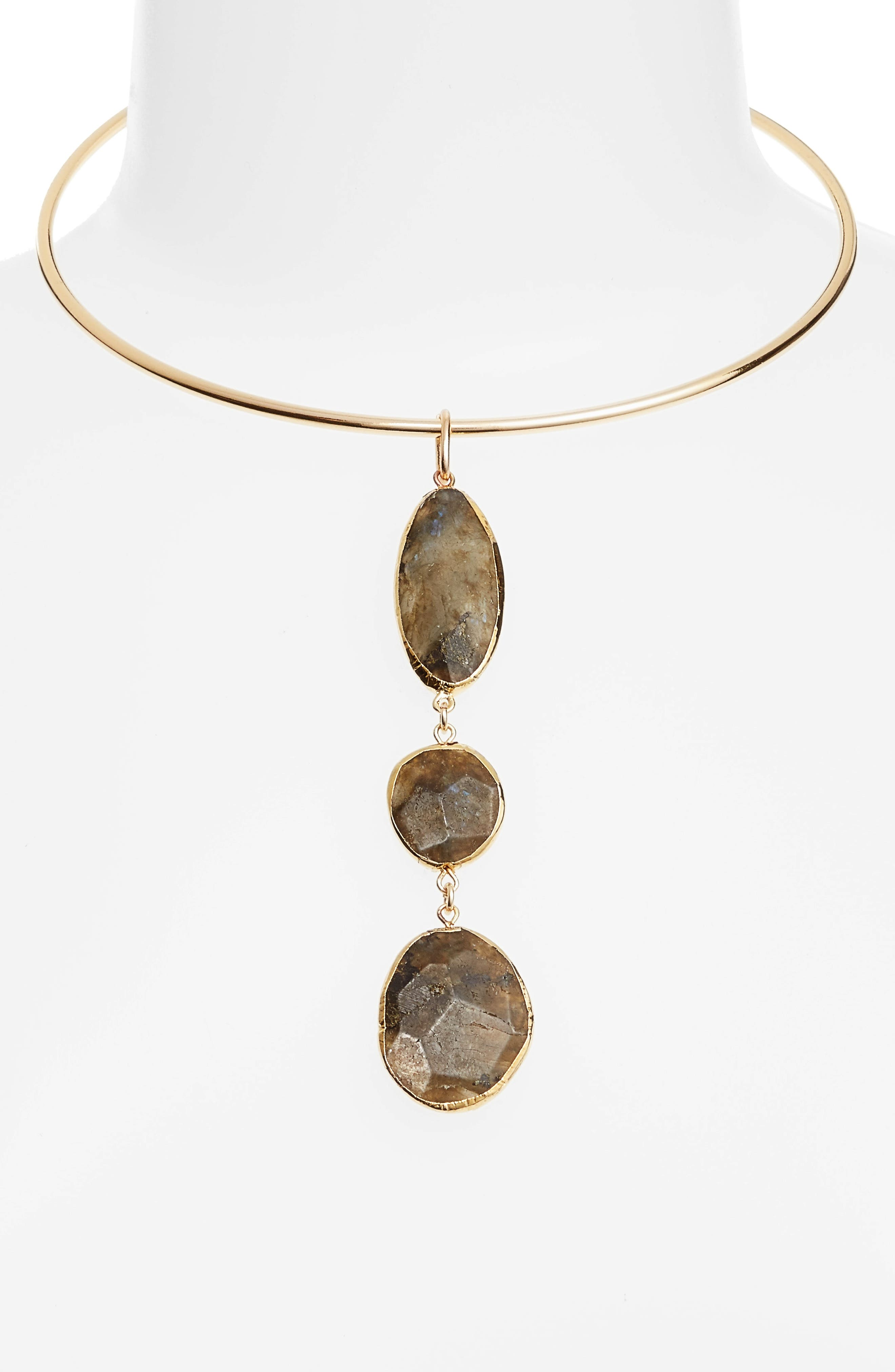 Alternate Image 2  - Nordstrom Triple Stone Collar Necklace