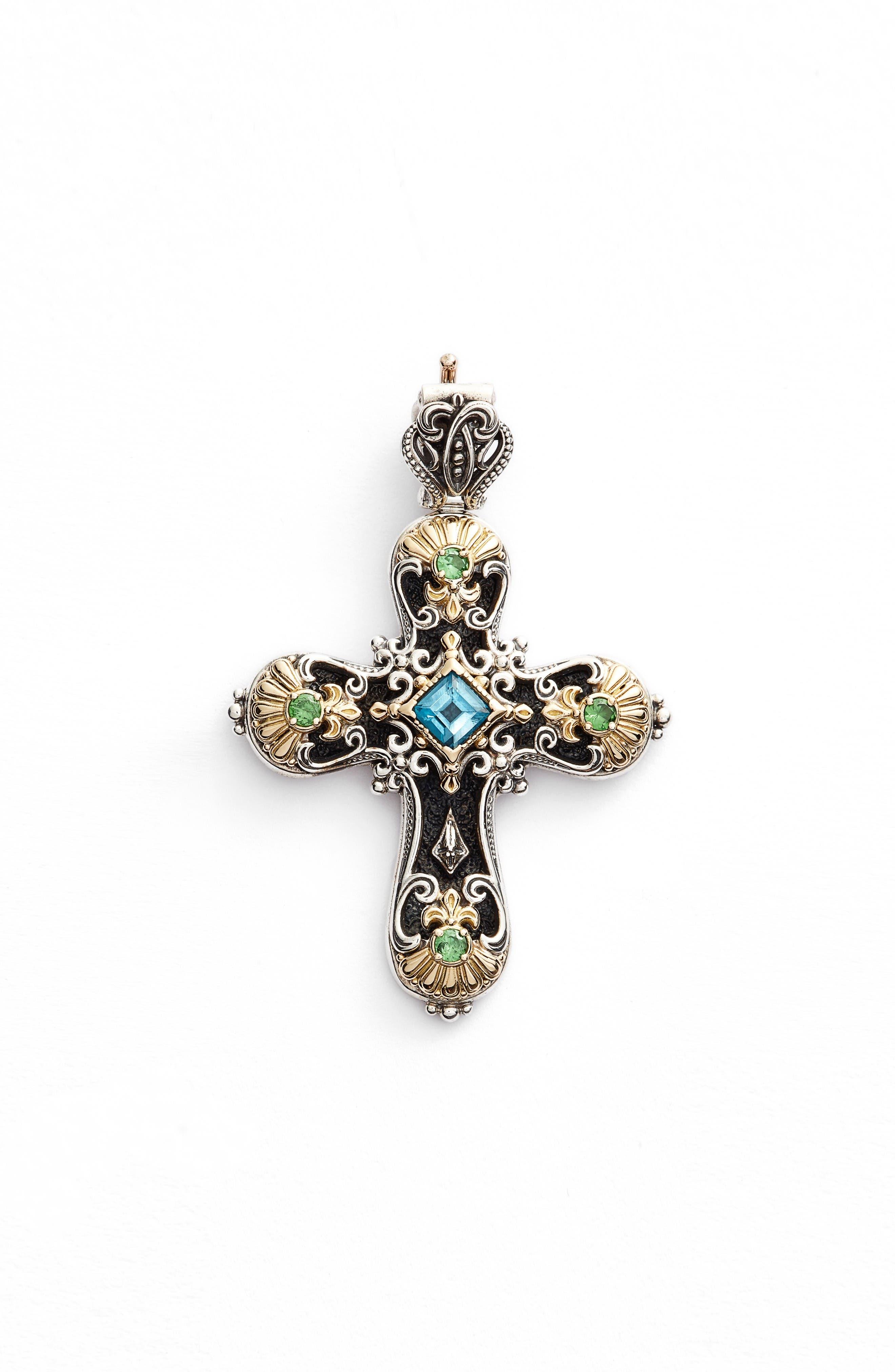 Konstantino Nemesis Cross Pendant